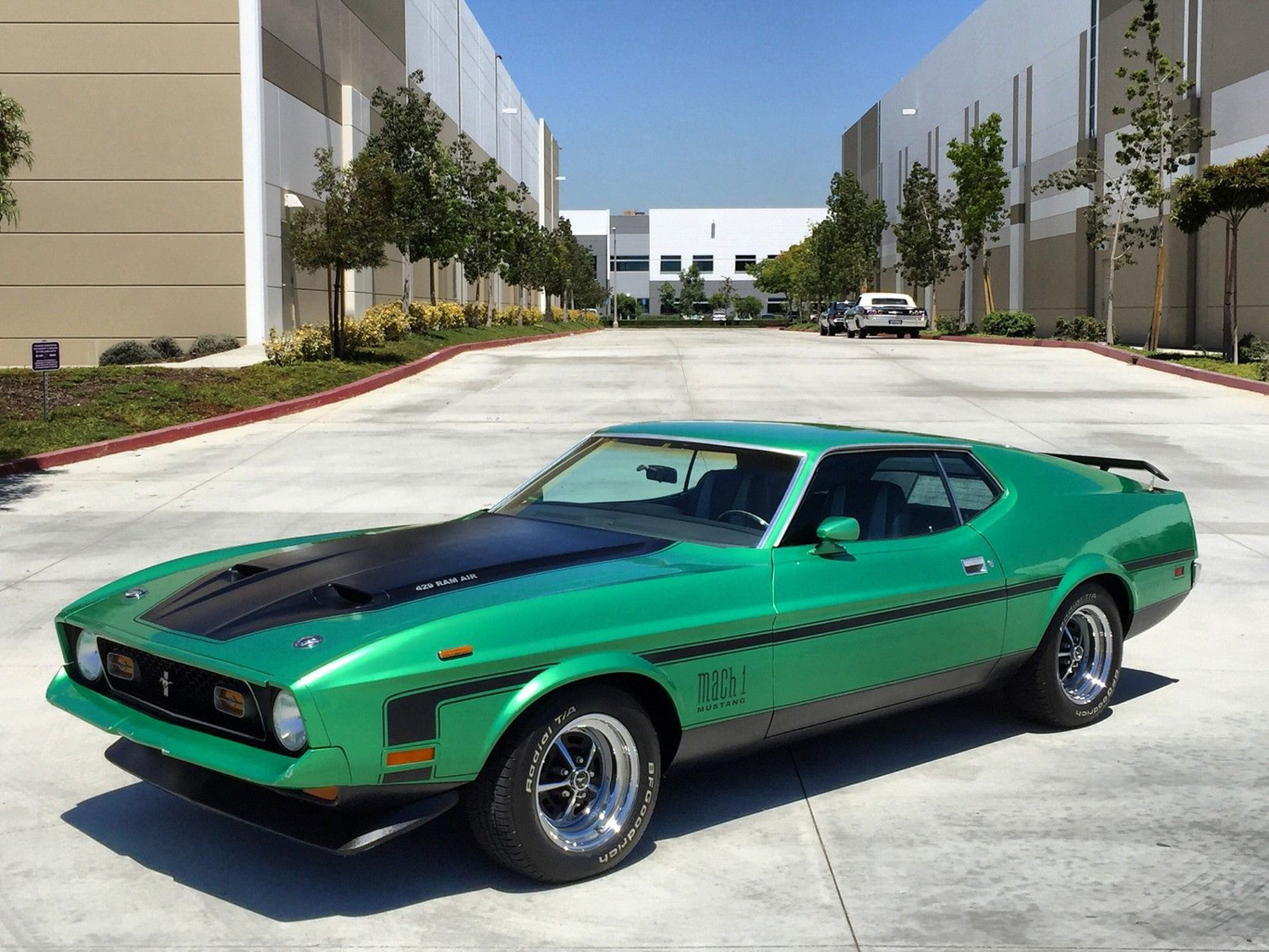 1973 Ford Mustang green mach 1