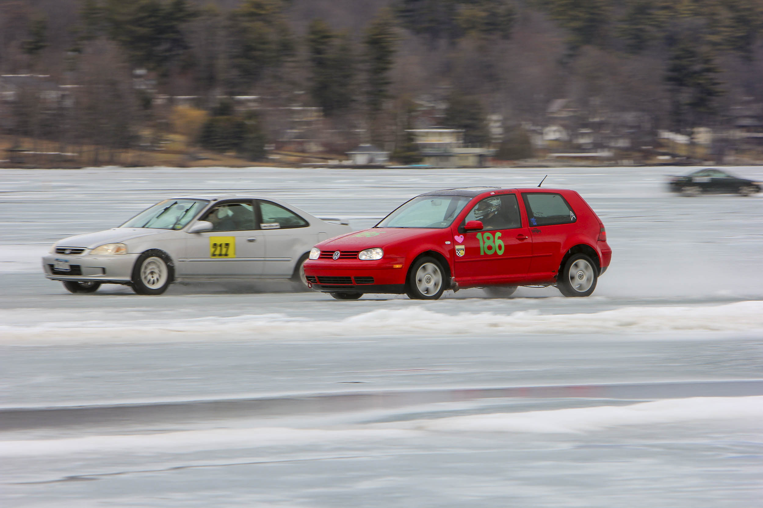 drag racing on ice