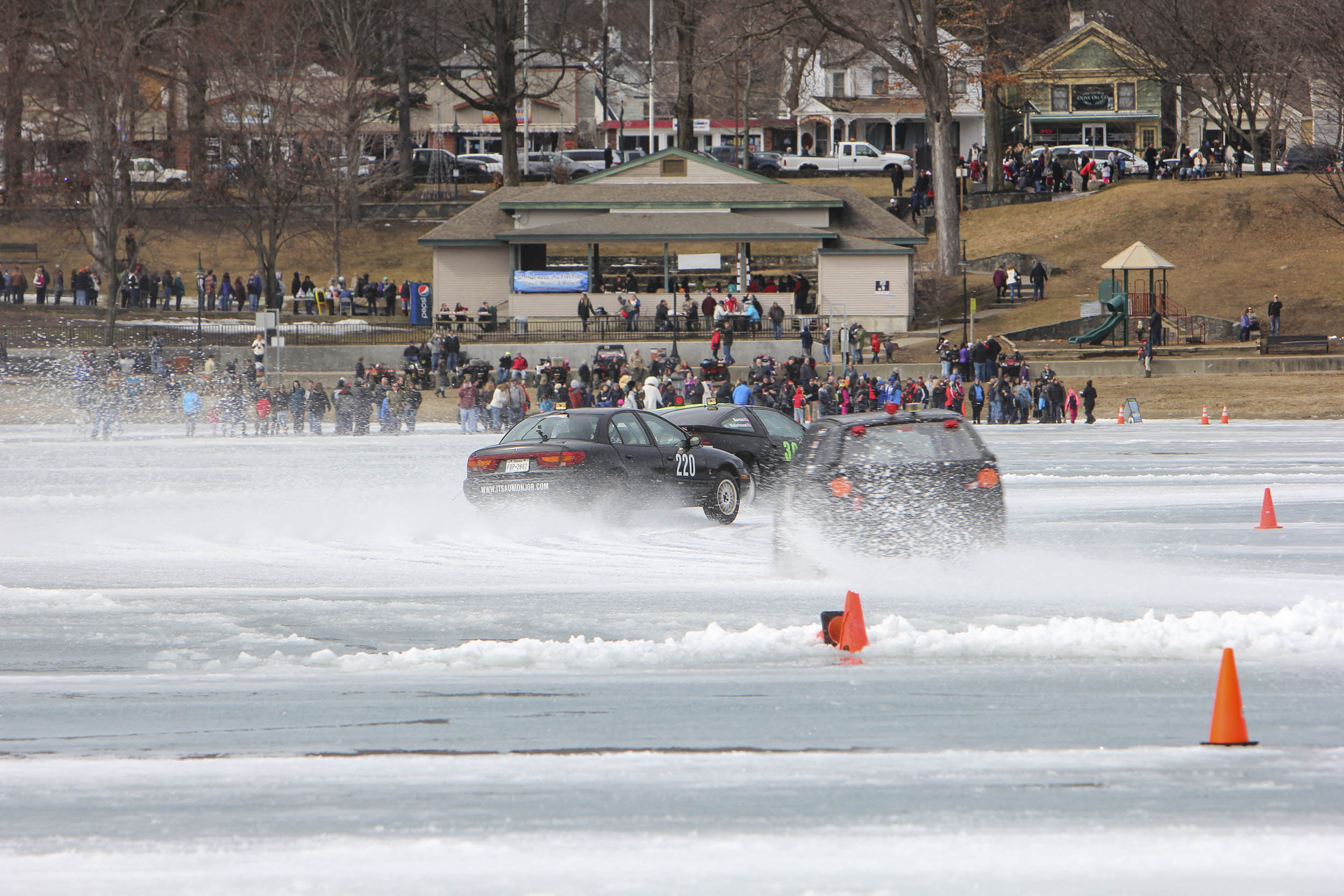 Ice racing event