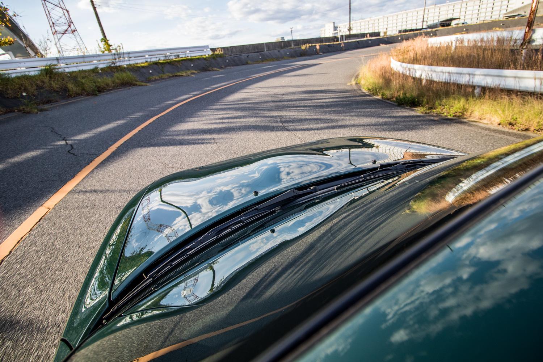 NA miata restoration driving hood detail