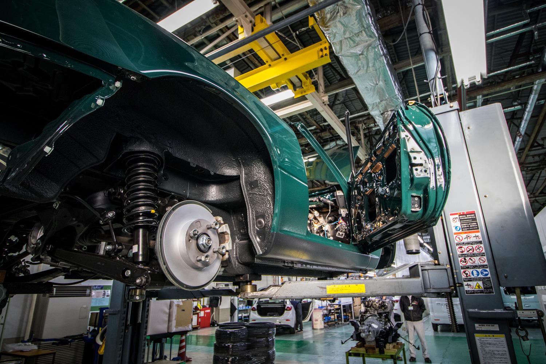 NA miata restoration rear suspension