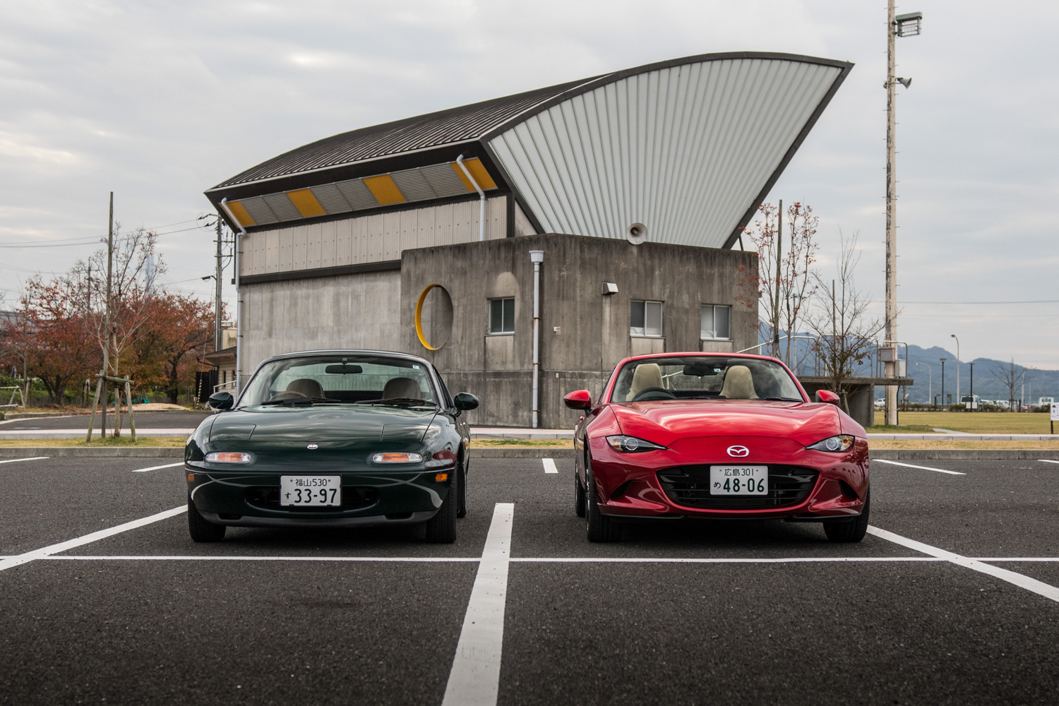NA miata restoration new and old side by side