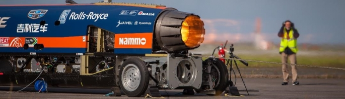 Bloodhound SSC engine reheat test