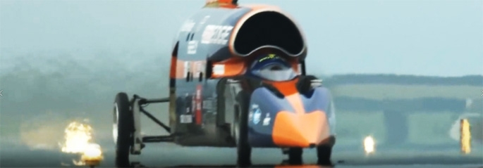 Bloodhound SSC runway heat haze