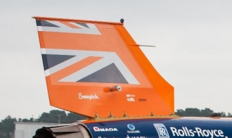 Bloodhound SSC tail fin