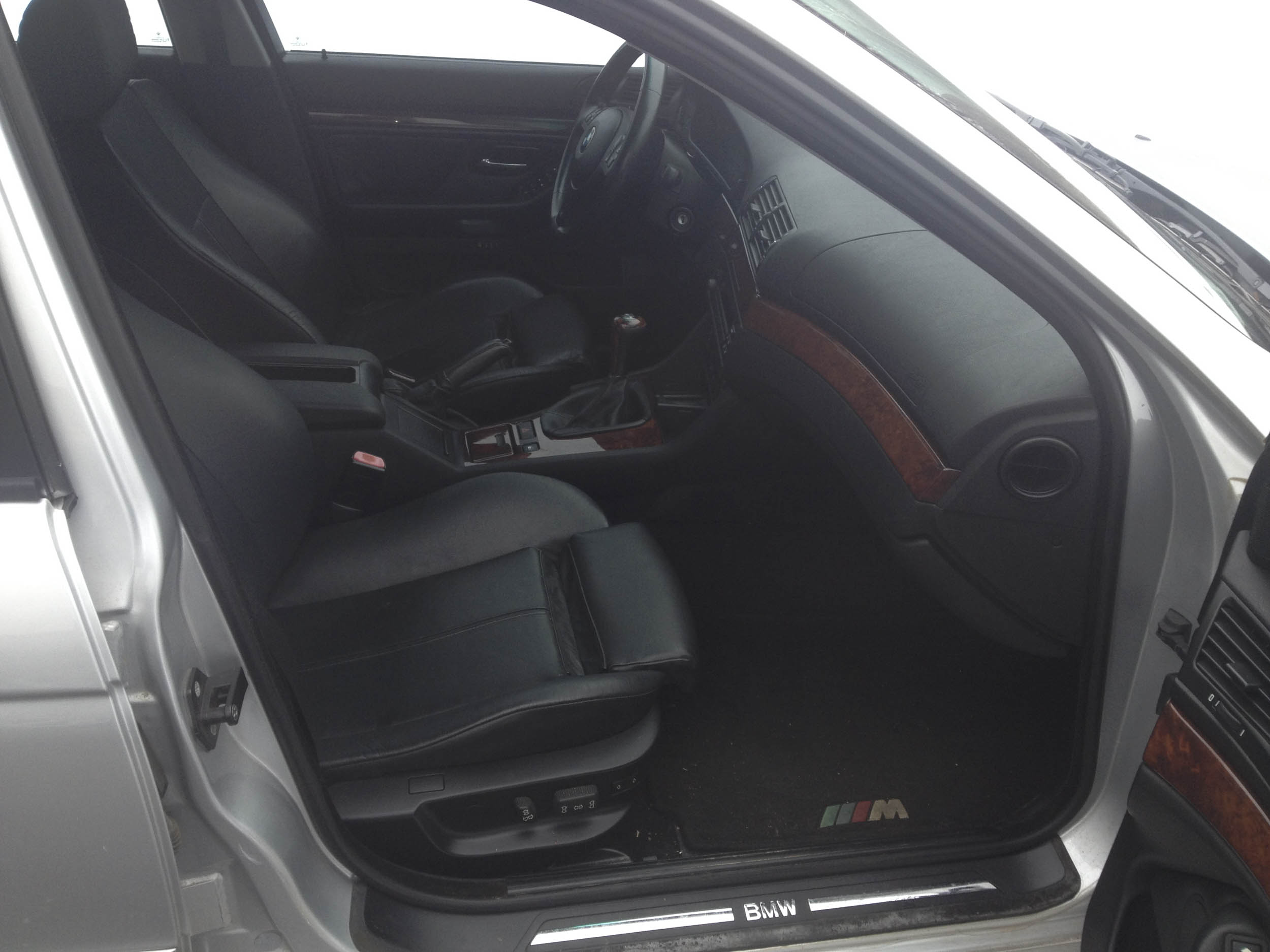 The black sport interior was in incredible shape for a car with 180,000 miles.