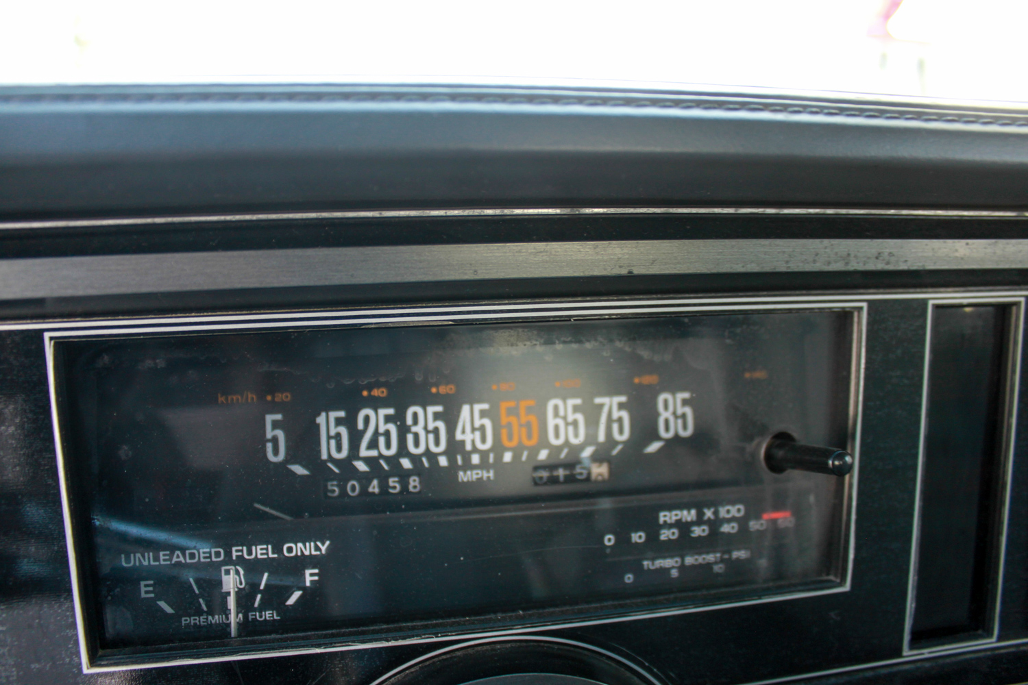 1987 Buick turbo-T gauges