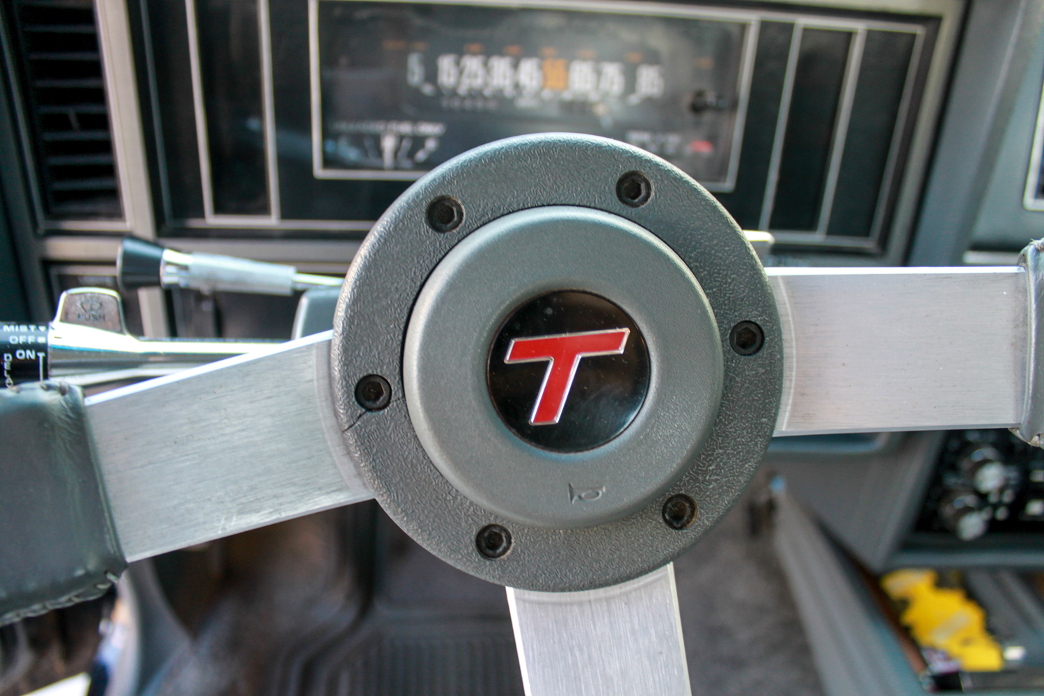 1987 Buick turbo-T center steering wheel