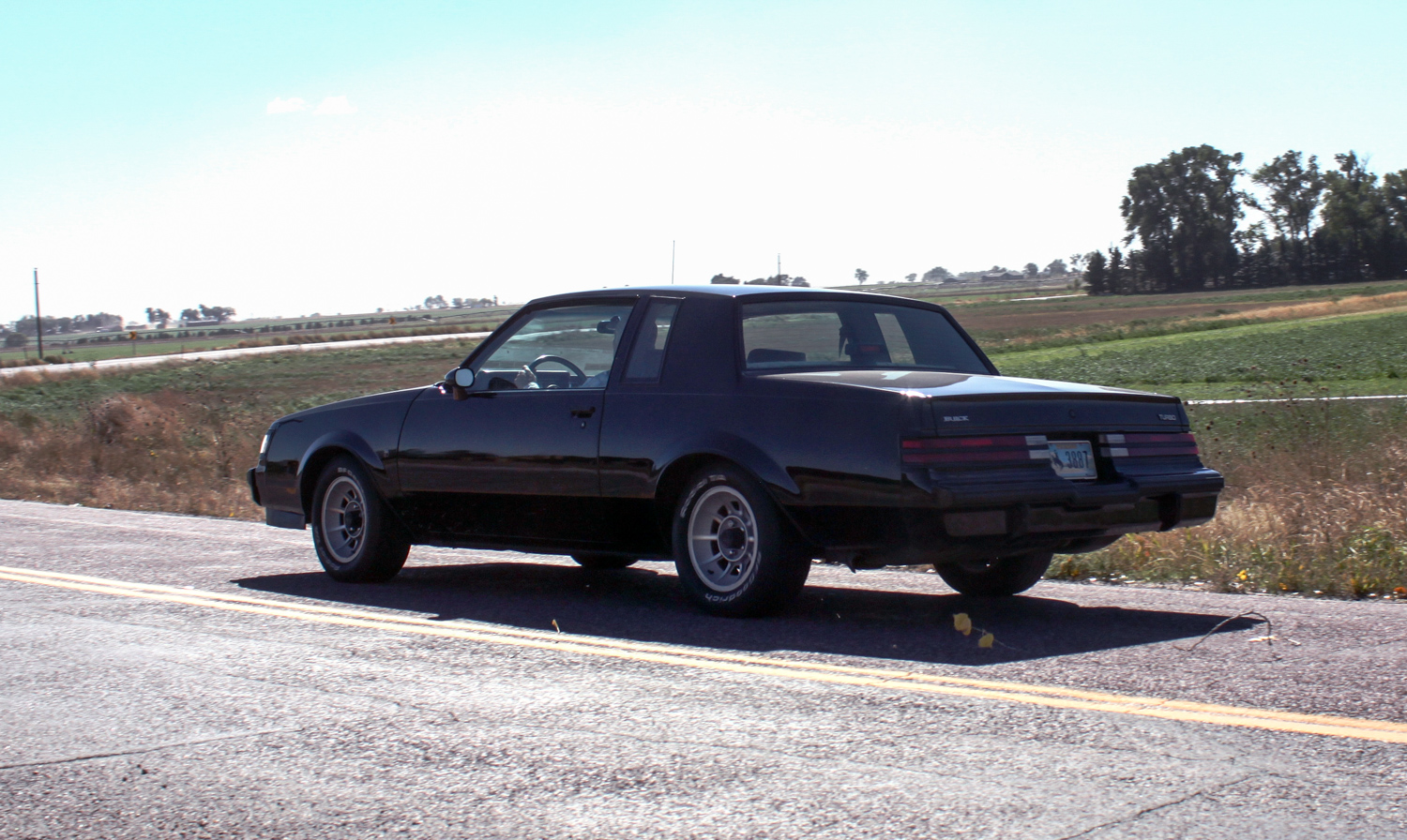 1987 Buick turbo-T rear3/4 driving