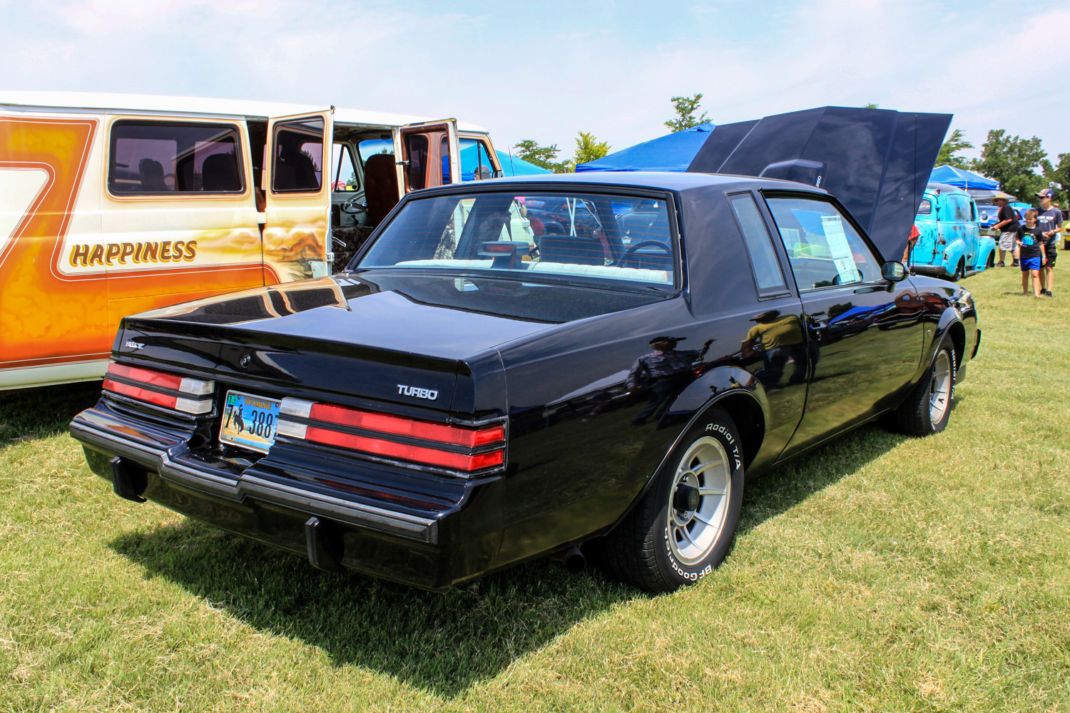 1987 Buick turbo-T rear 3/4 show