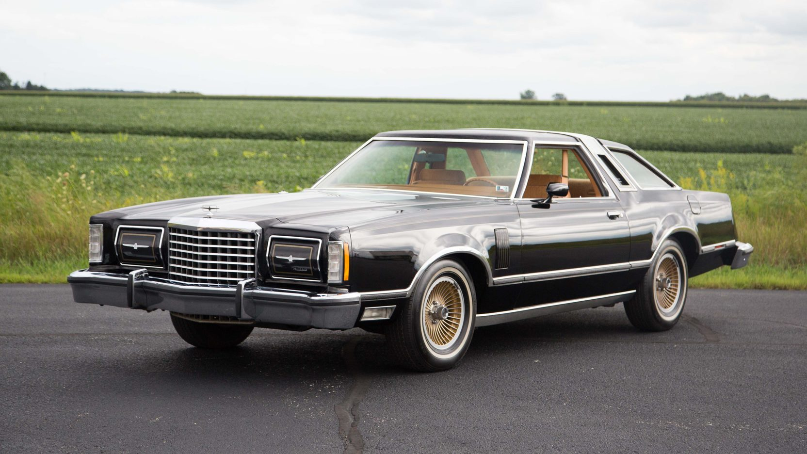 1978 Ford Thunderbird 3/4 front black gold