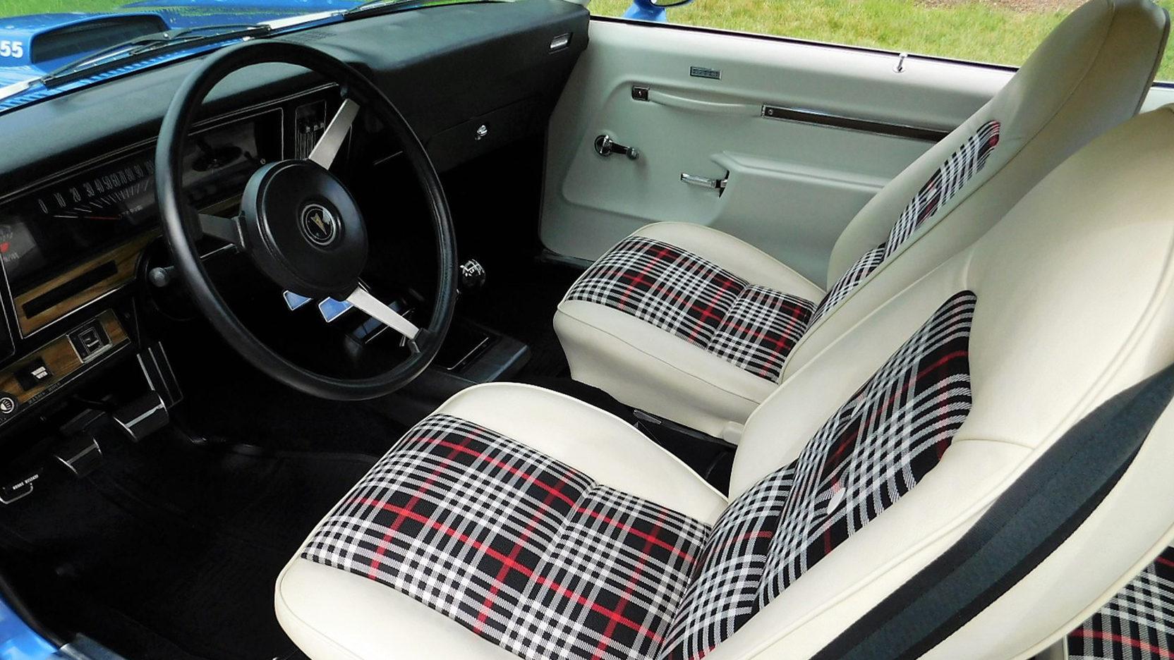 1974 Pontiac GTO two tone interior