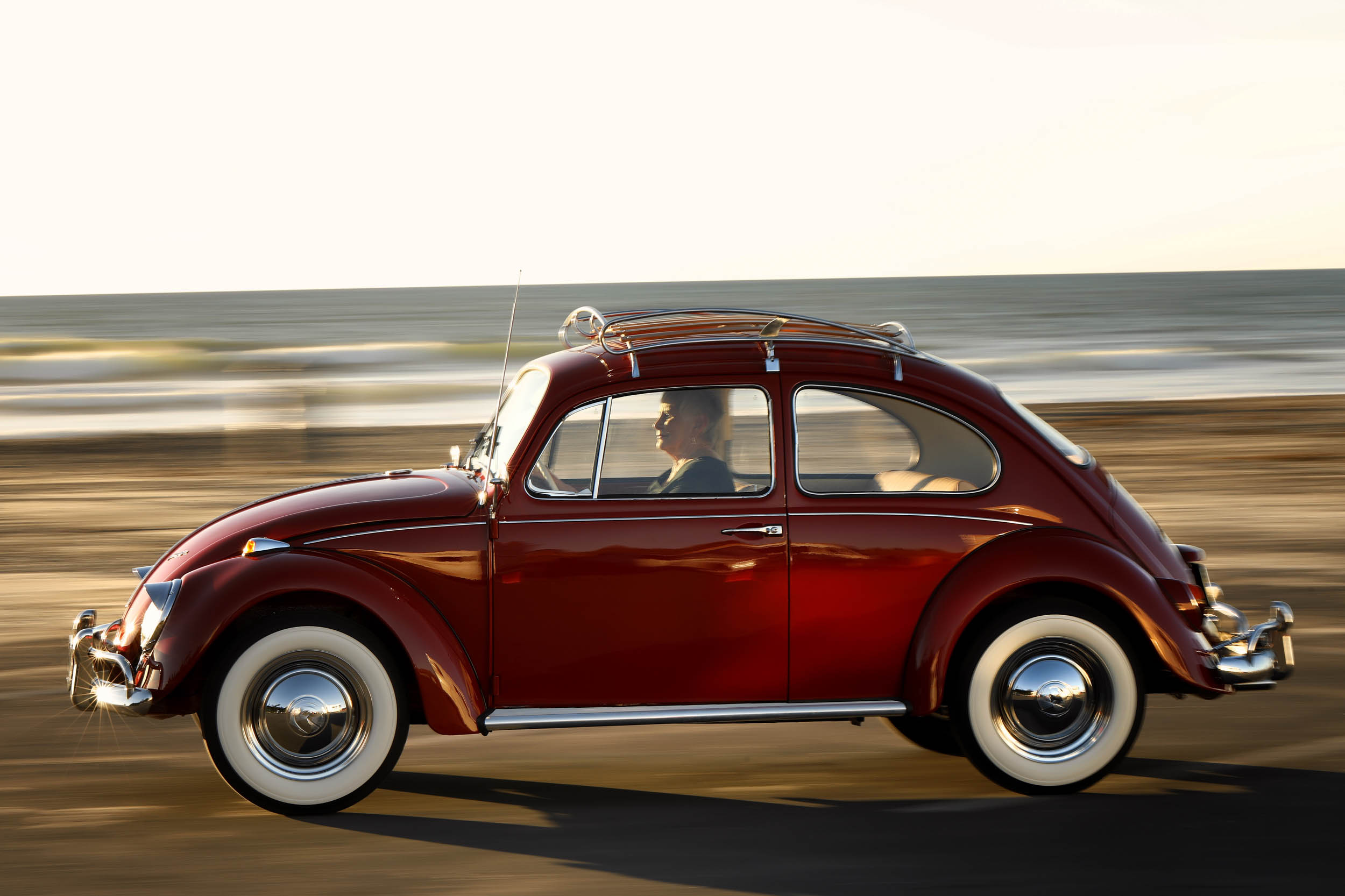 restored 1967 Volkswagen Beetle profile
