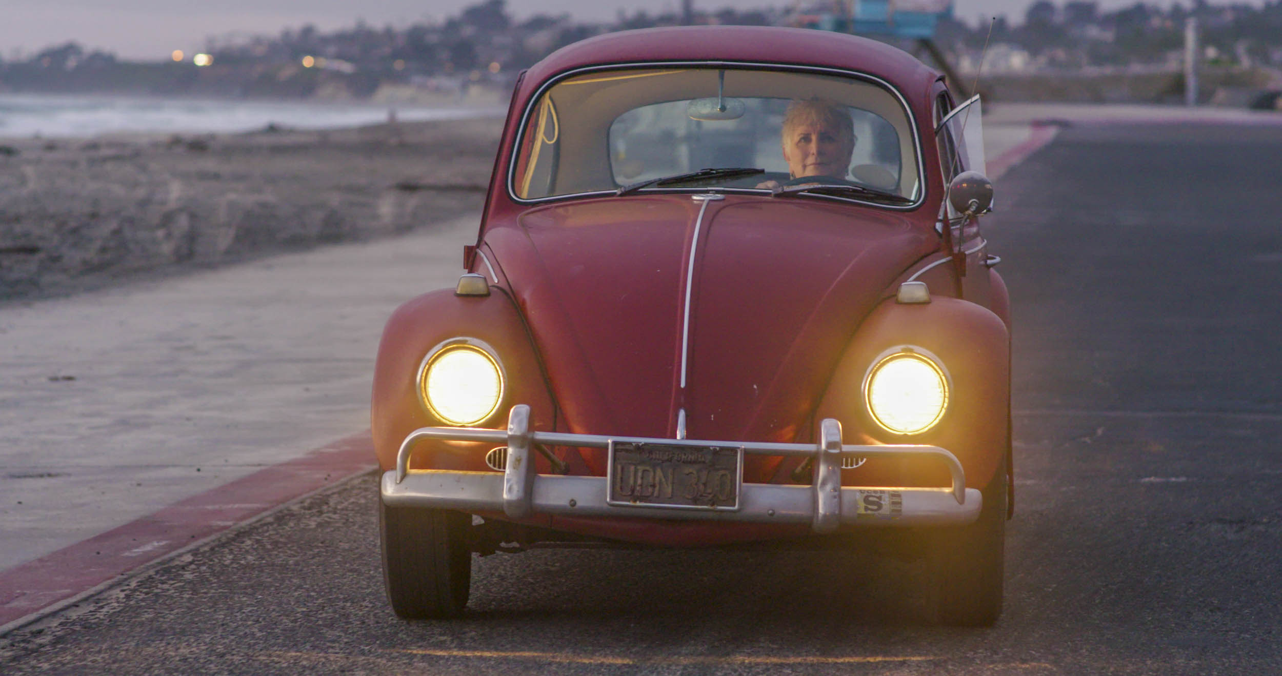 1967 Volkswagen Beetles front headlights on