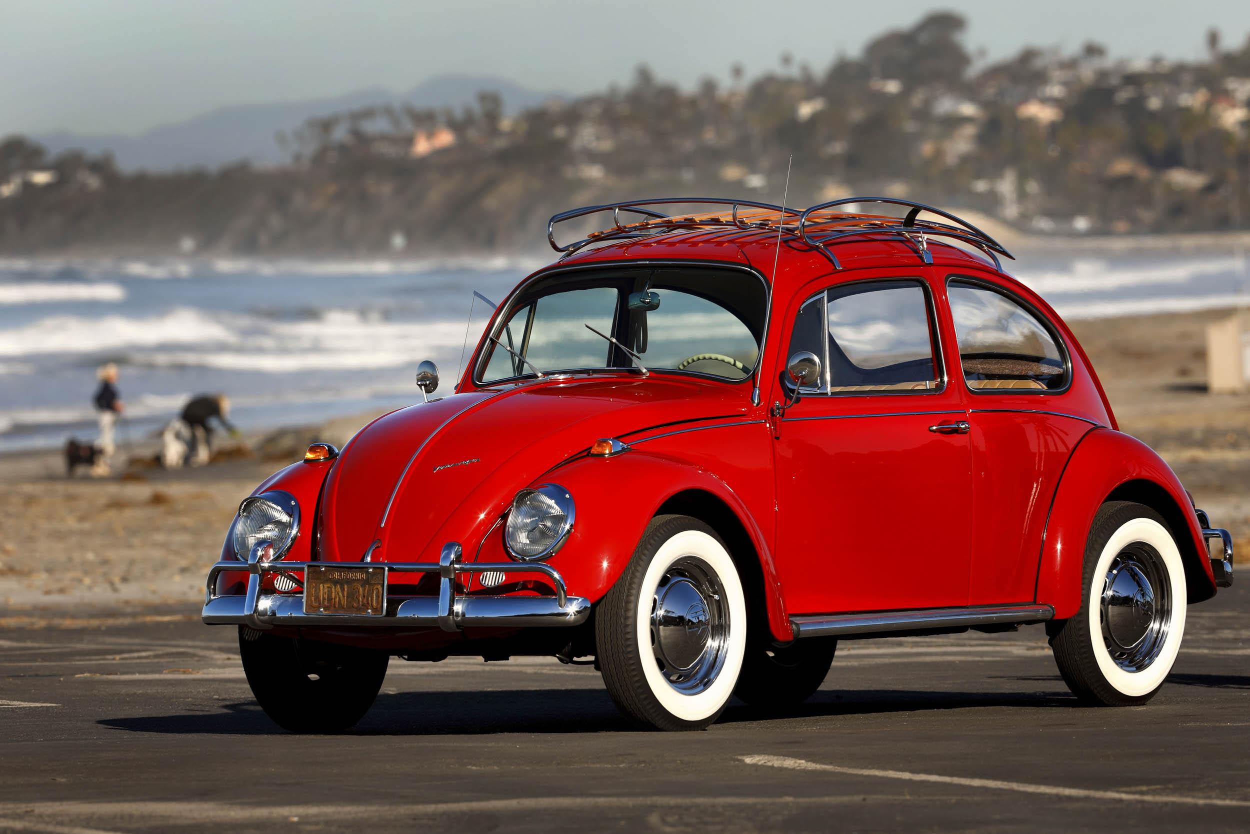 1967 Volkswagen Beetle front 3/4