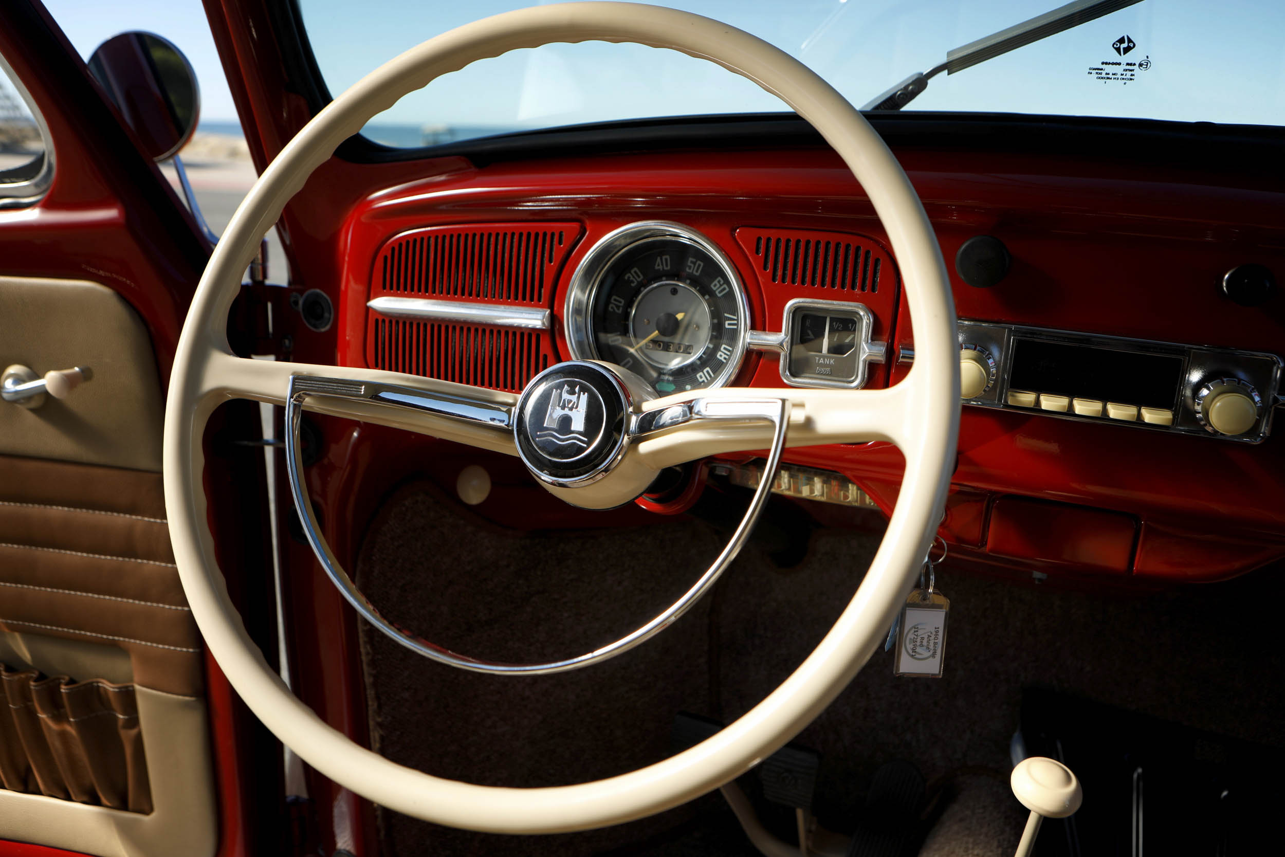 1967 Volkswagen Beetle restored steering wheel