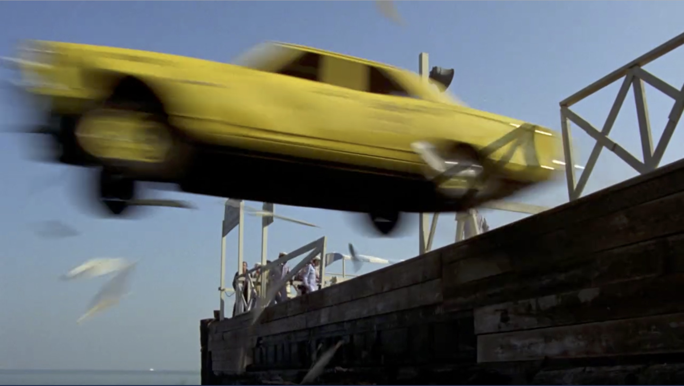 What's Up, Doc? taxi jump into bay
