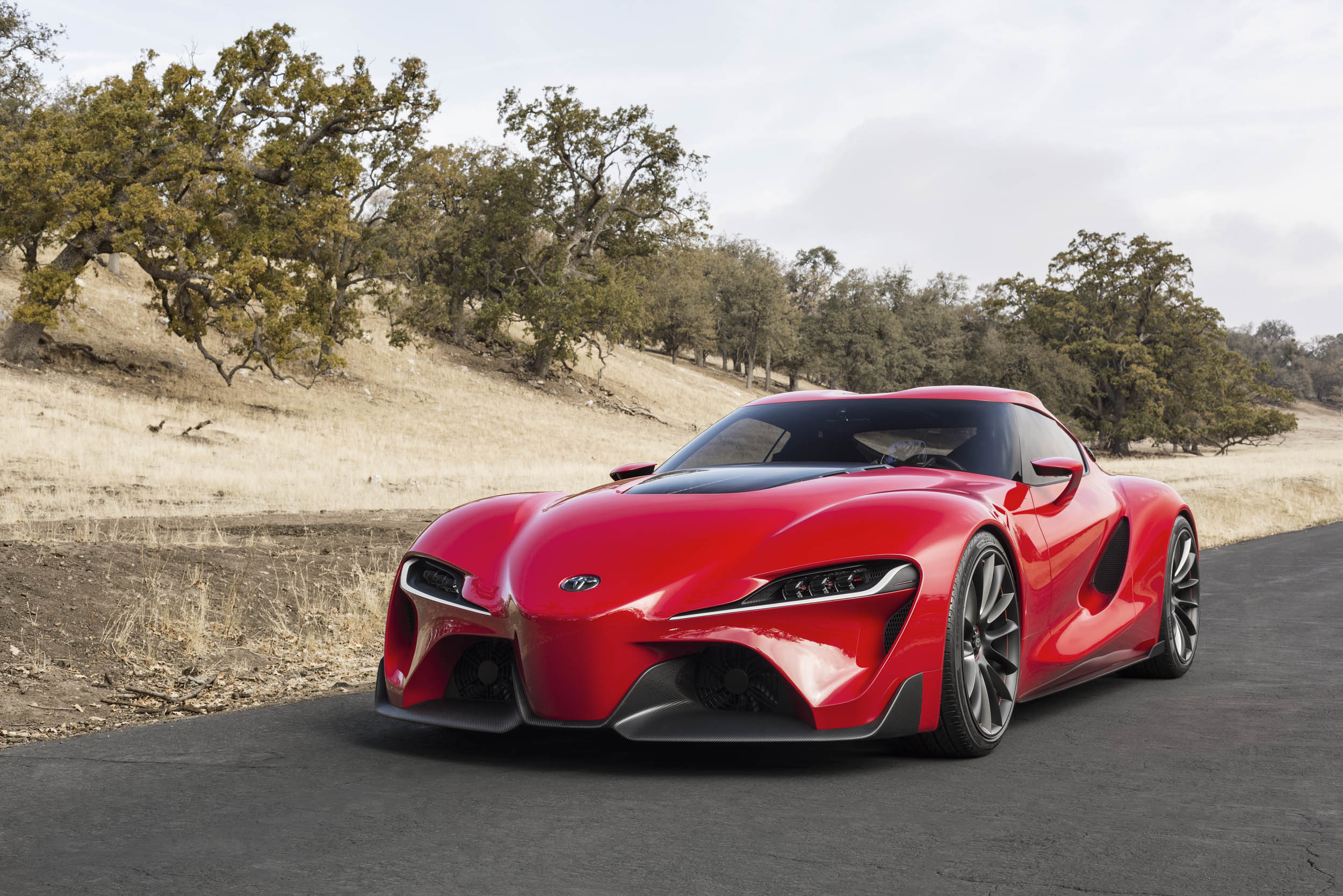 Toyota FT-1 concept front 3/4