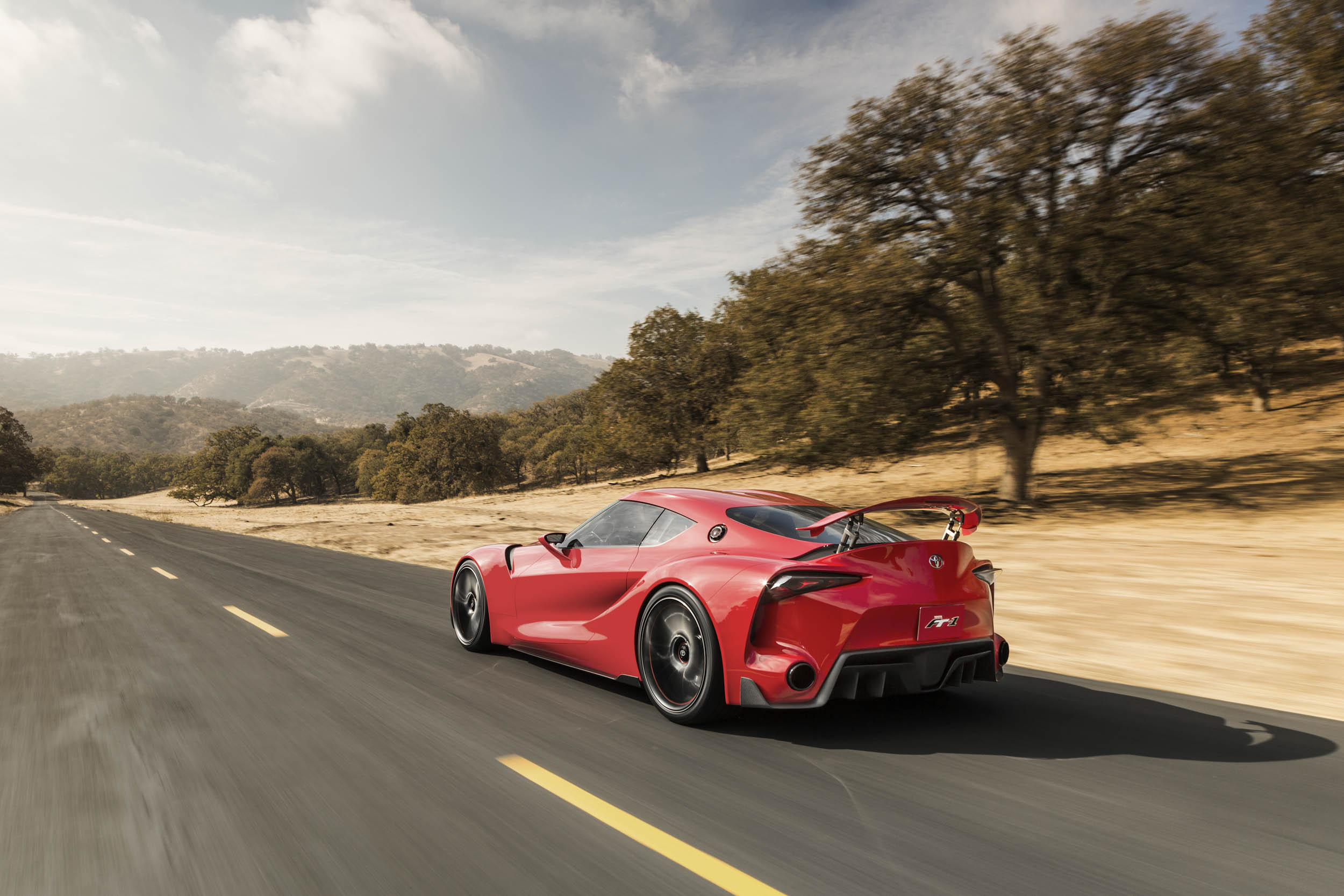 red Toyota FT-1 concept rear 3/4