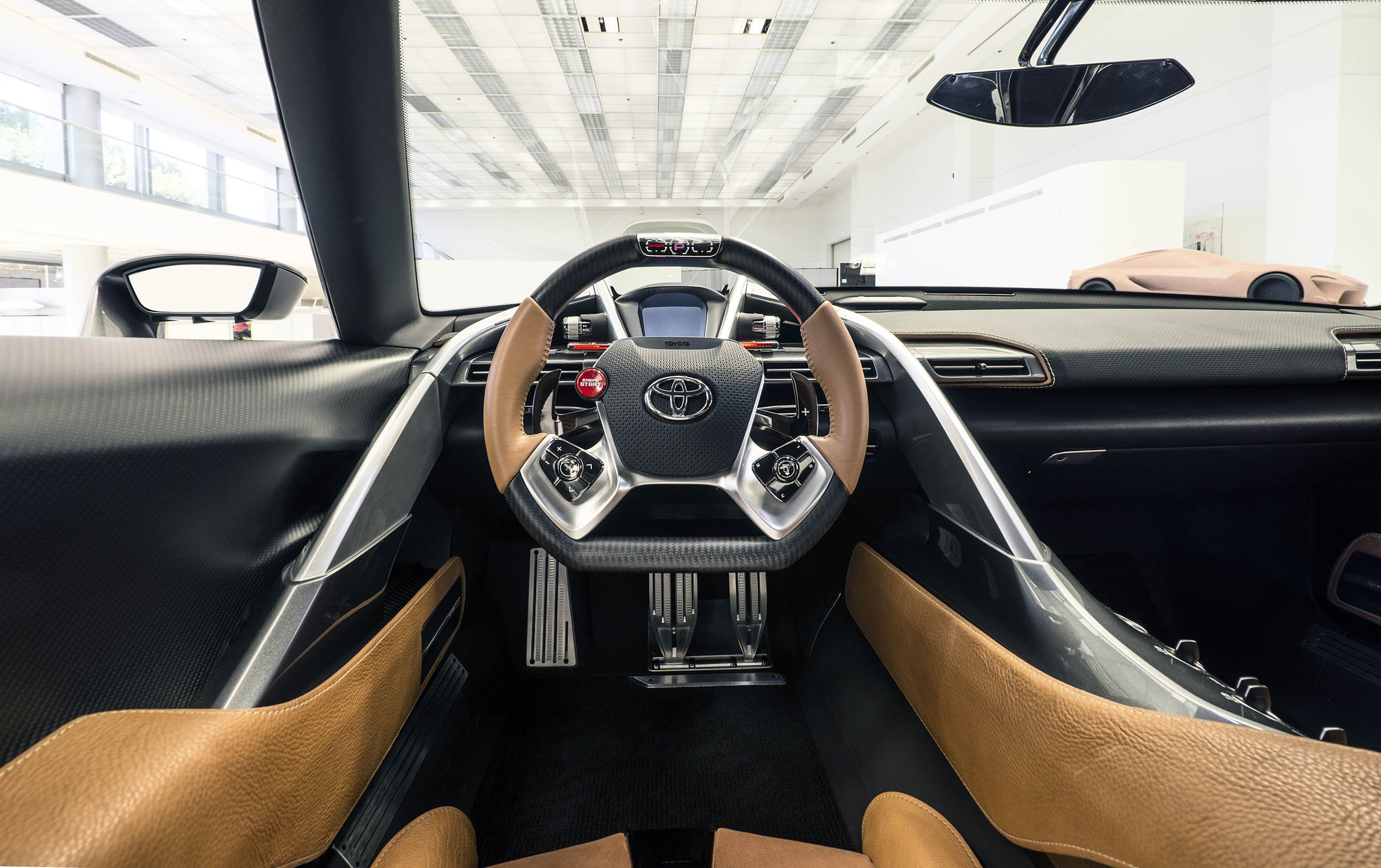 Toyota FT-1 concept cockpit