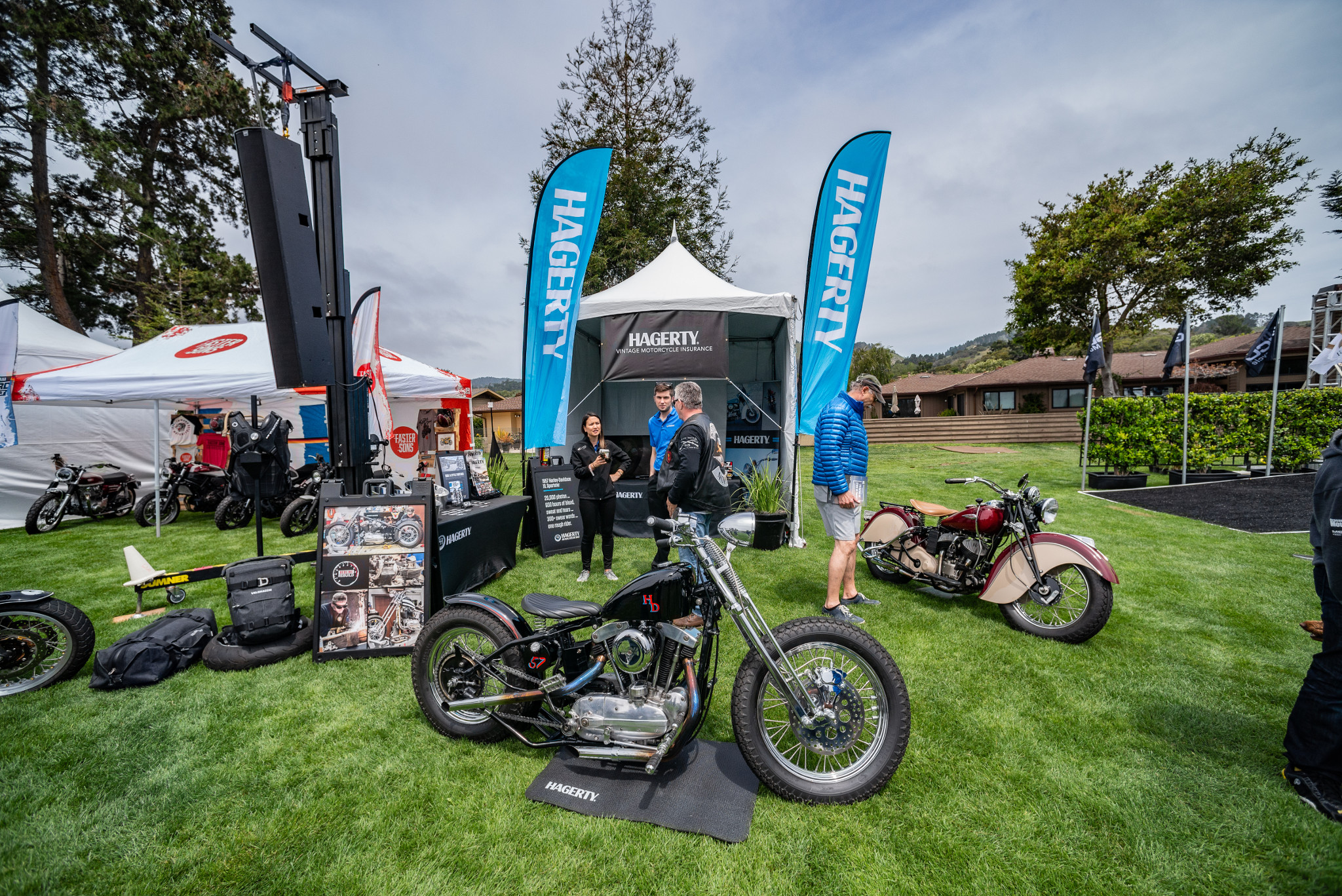 Hagerty Harley on the lawn at quail