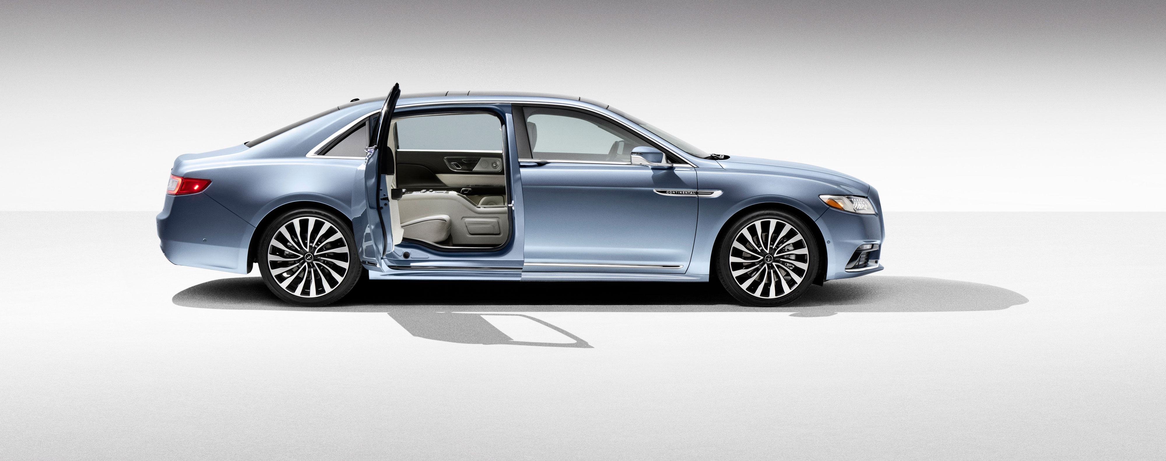 2019 lincoln continental stretch suicide doors front view