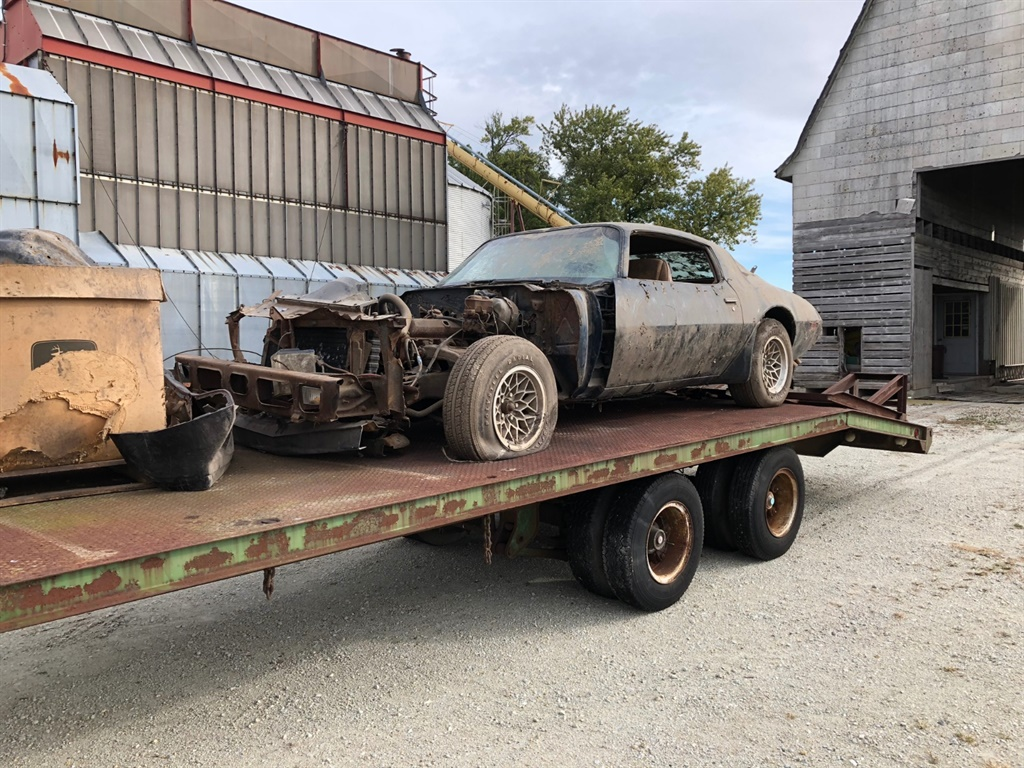 1979 Pontiac Trans Am on trailer