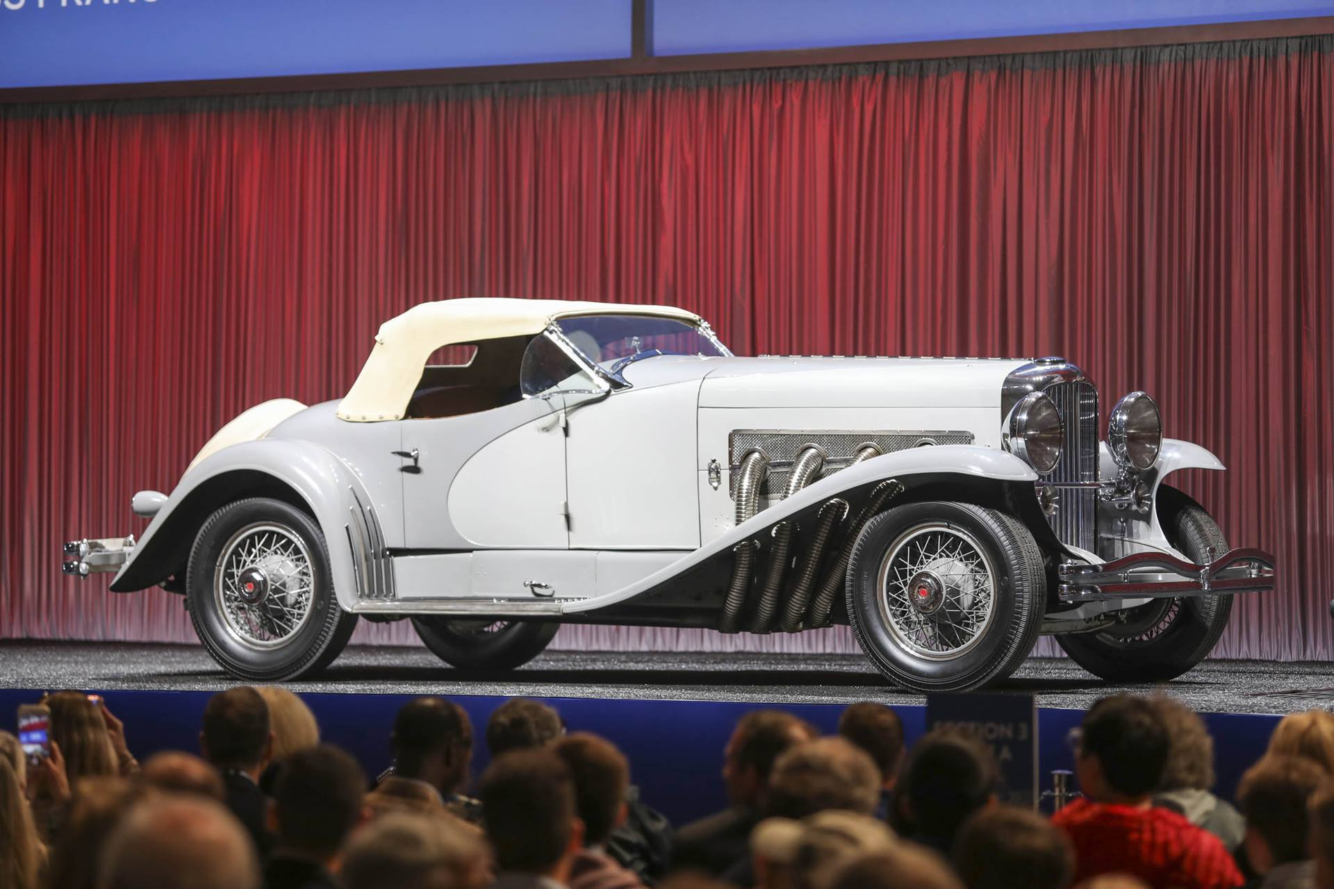 1935 Duesenberg SSJ side profile auction block