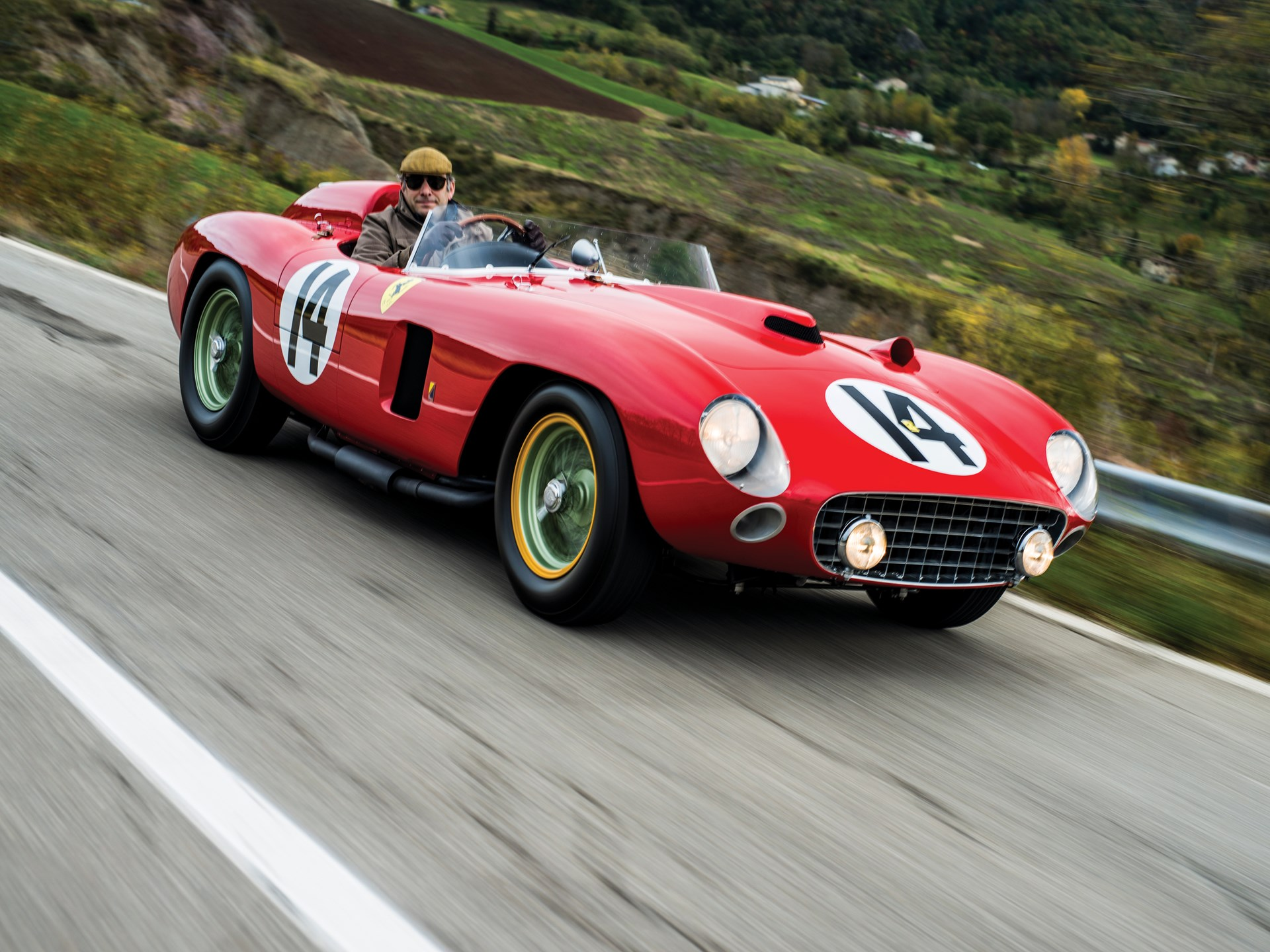 1956 Ferrari 290 MM 3/4 driving