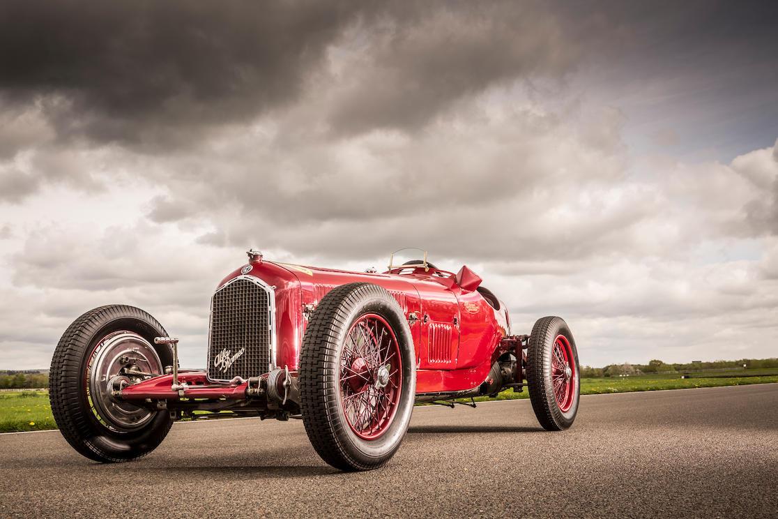 Alfa Romeo Tipo B Grand Prix 3/4 front race track