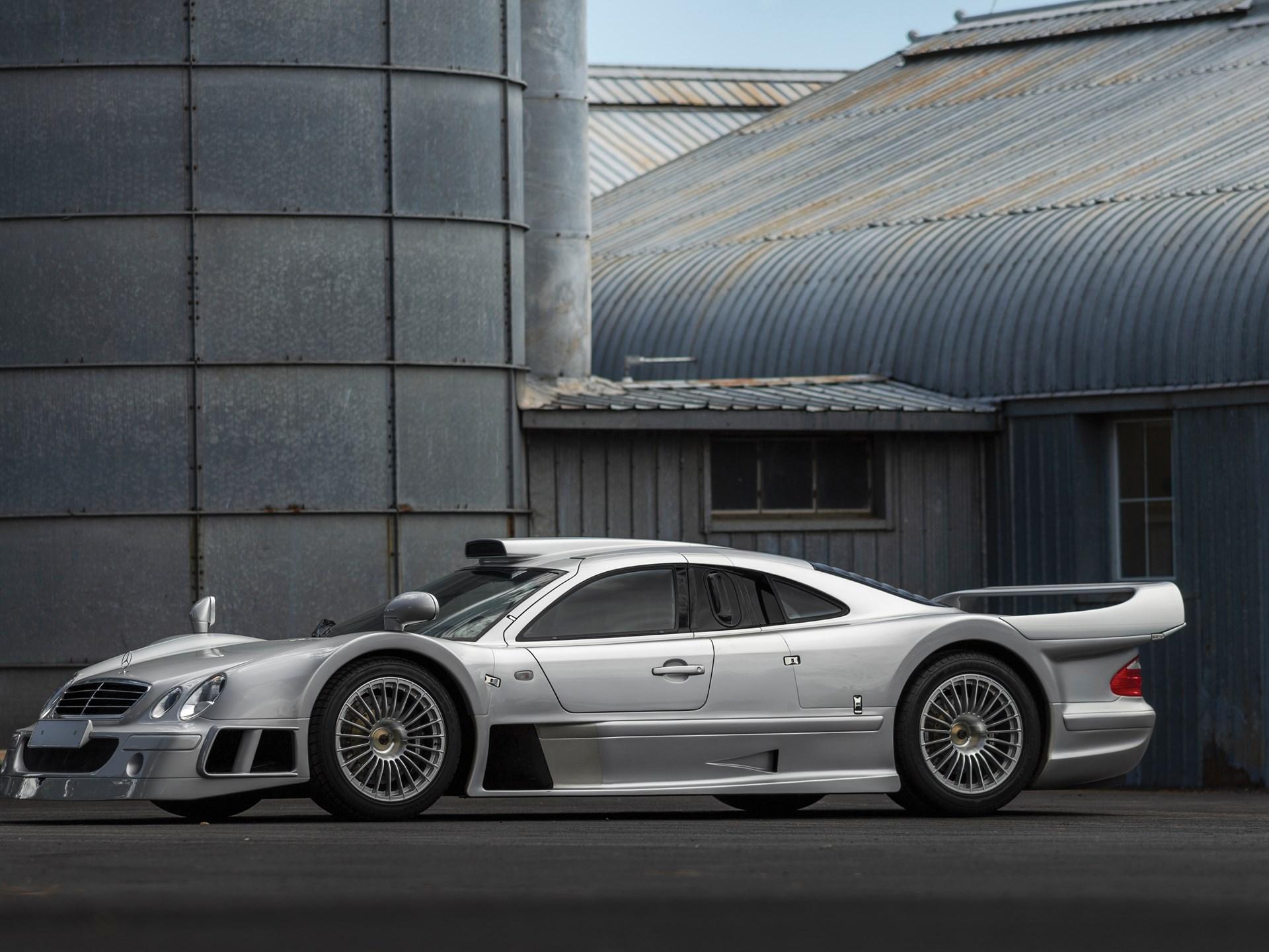 1998 Mercedes-Benz CLK GTR siver 3/4 front