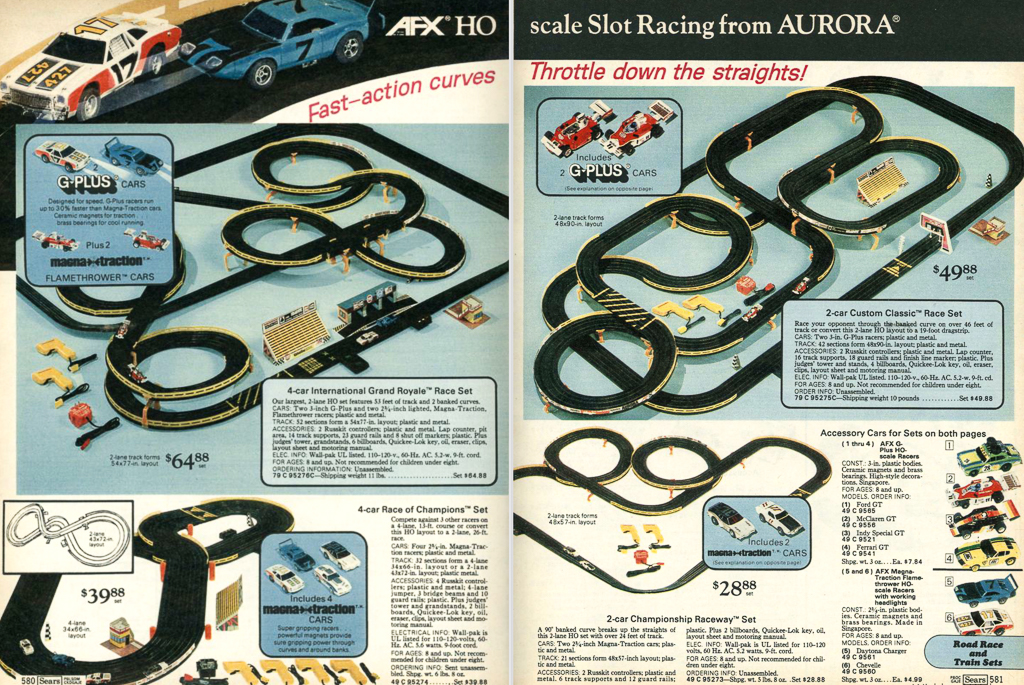 Sears/Wishbookweb.com slot car track