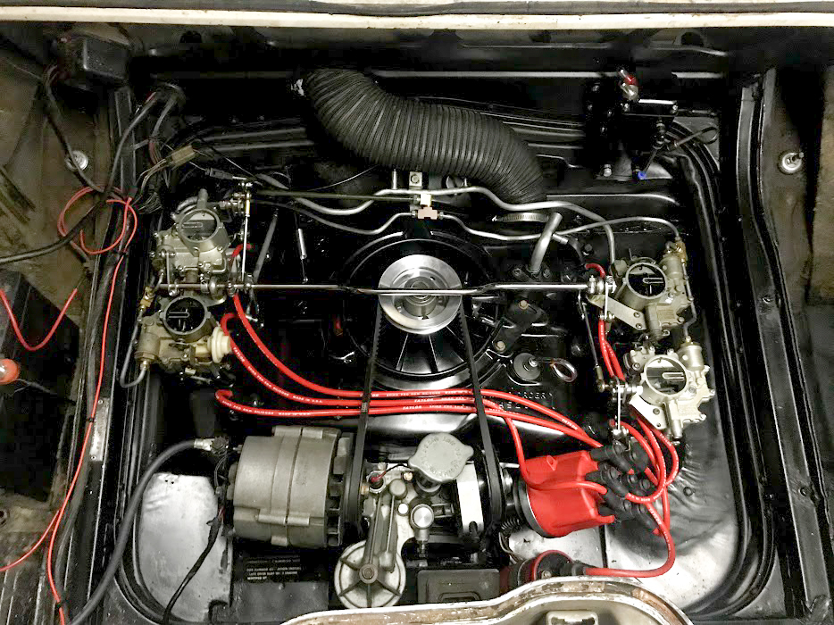 1965 Chevrolet Corvair Corsa engine finished