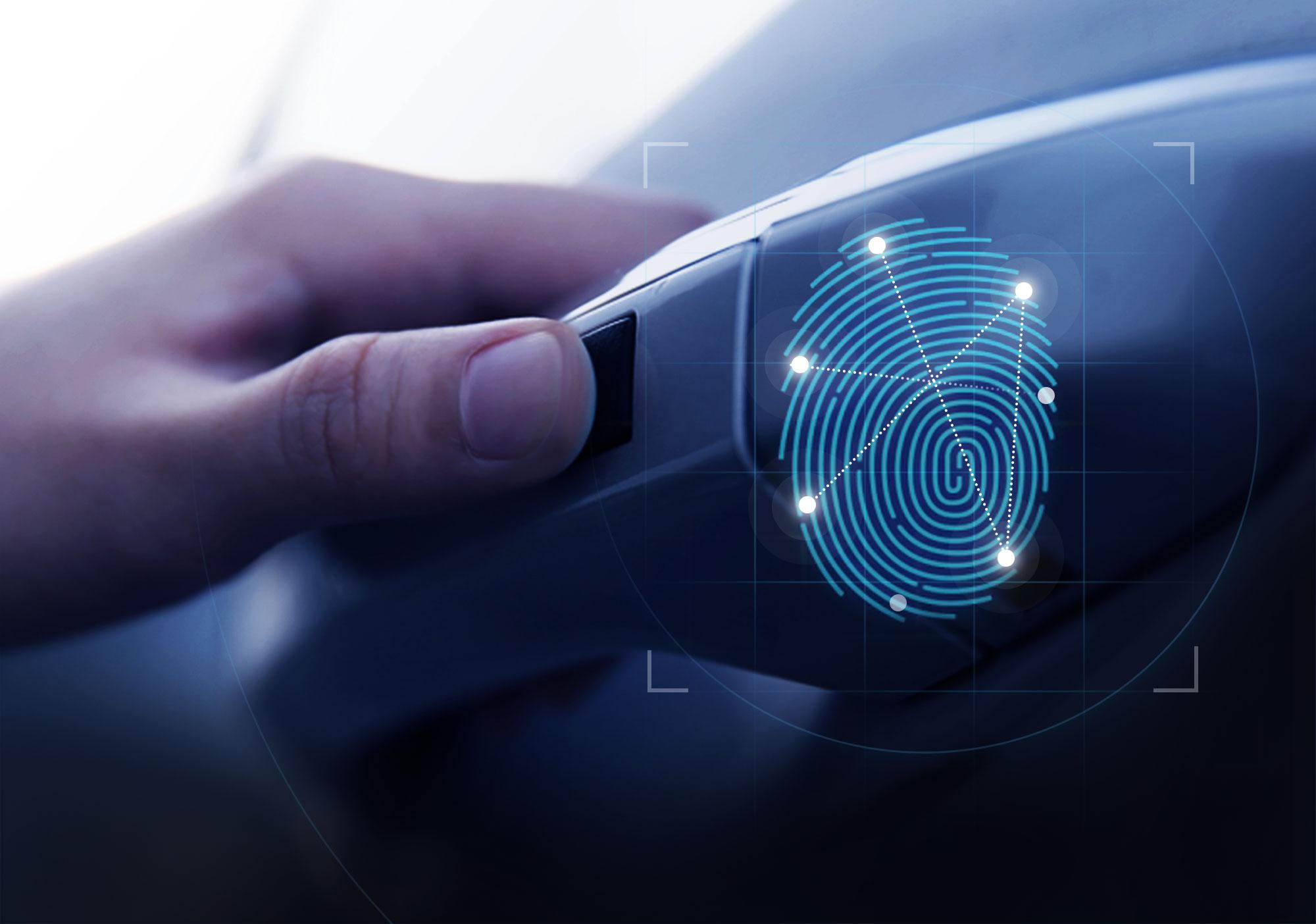 Hyundai finger print scanner steering wheel