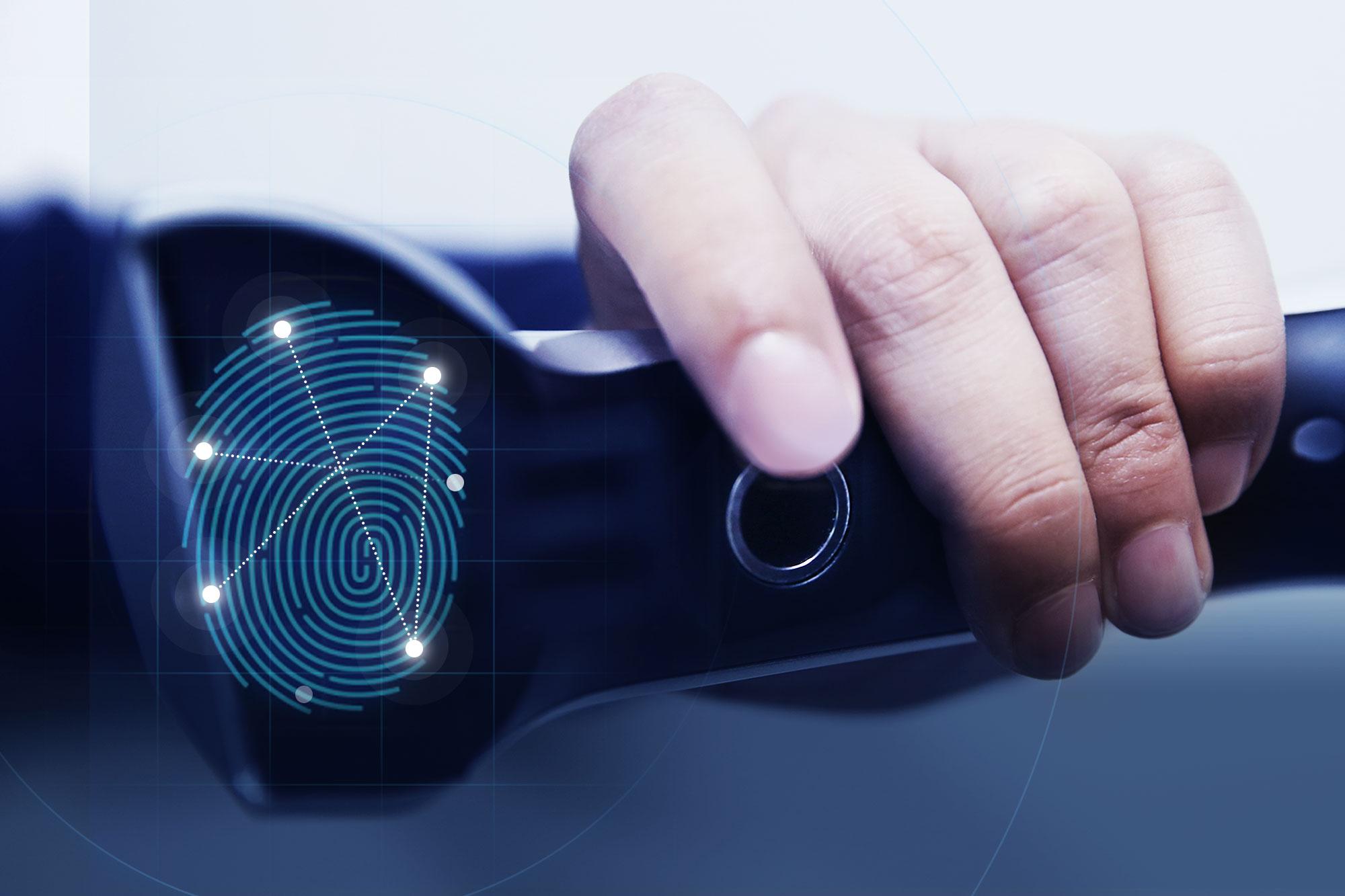Hyundai finger print scanner button