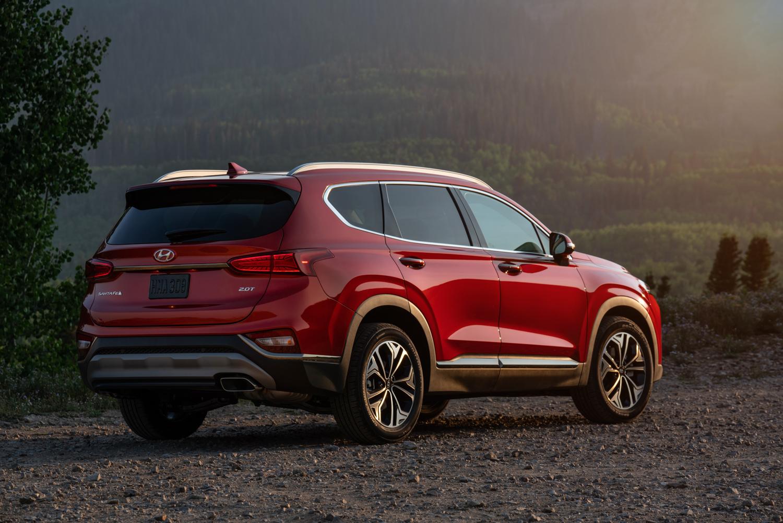 2019 Hyundai Santa Fe rear 3/4