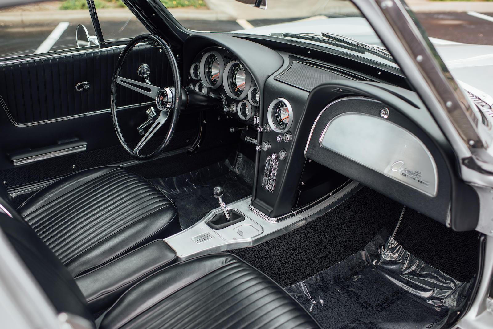 1963 Chevrolet Corvette interior passenger