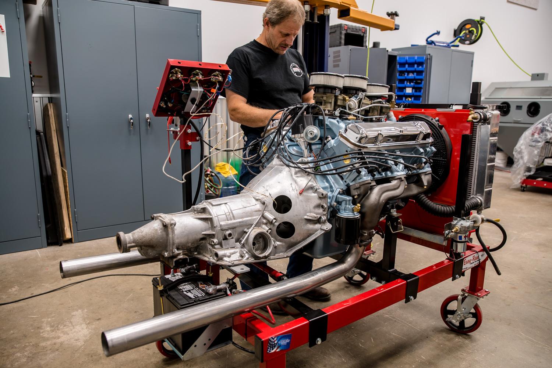 Hagerty redline rebuild pontiac 389 tri power dyno stand