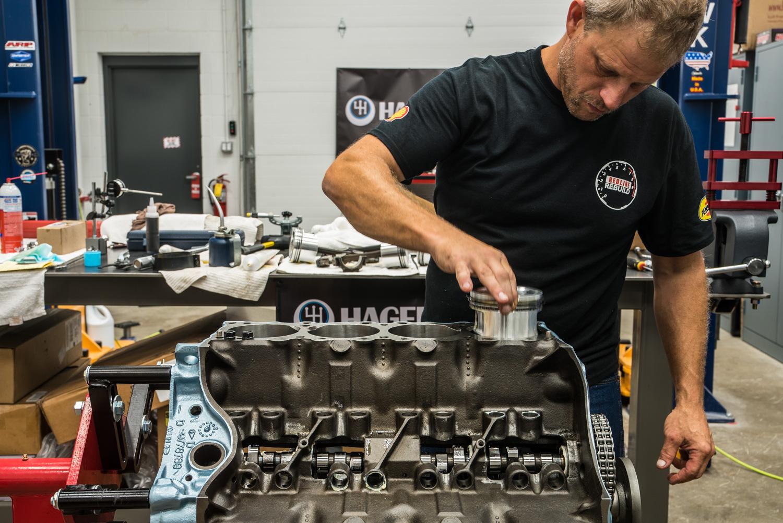 Hagerty redline rebuild pontiac 389 tri power piston install