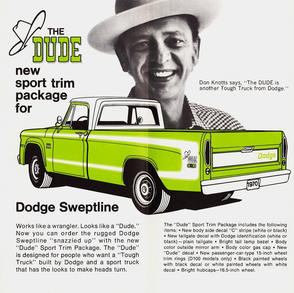 1970 Dodge D-100 Dude advertisment