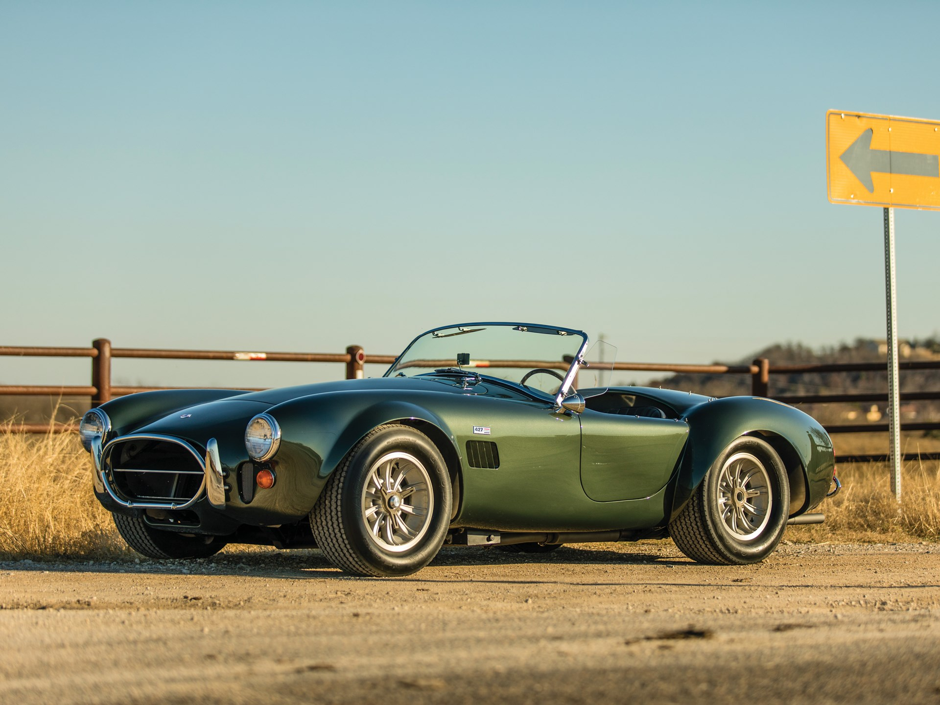 This 427 Shelby Cobra looks absolutely gorgeous in green thumbnail