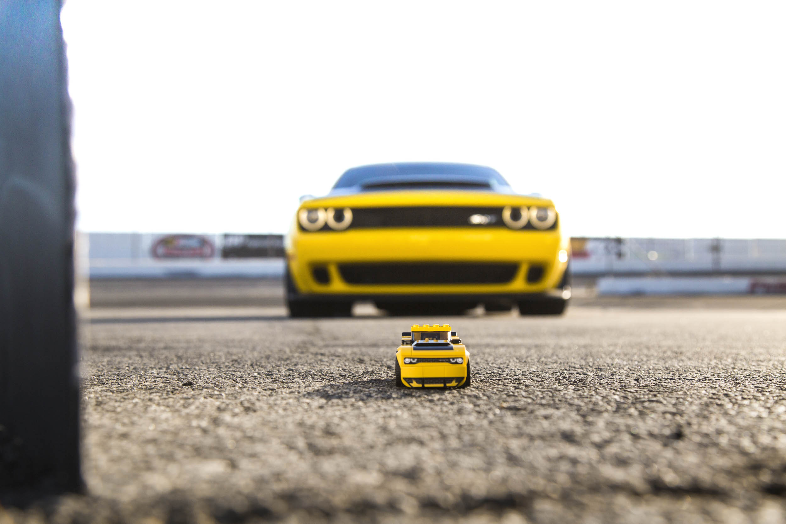LEGO SRT Demon with a real one