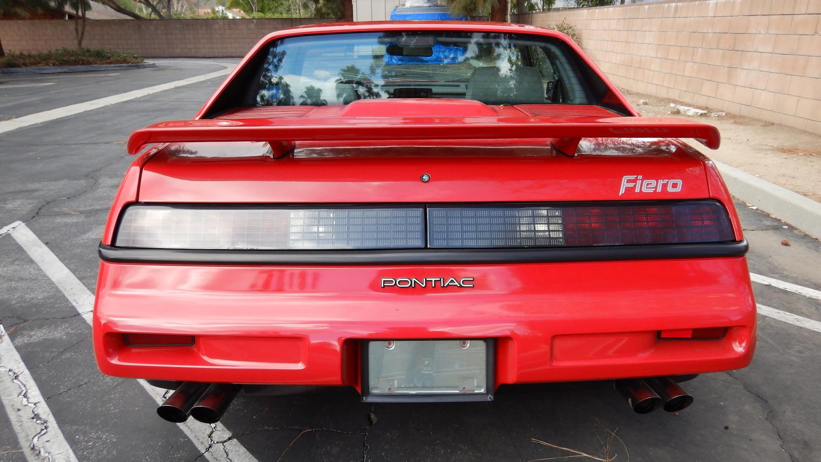 1988 Pontiac Fiero Formula rear
