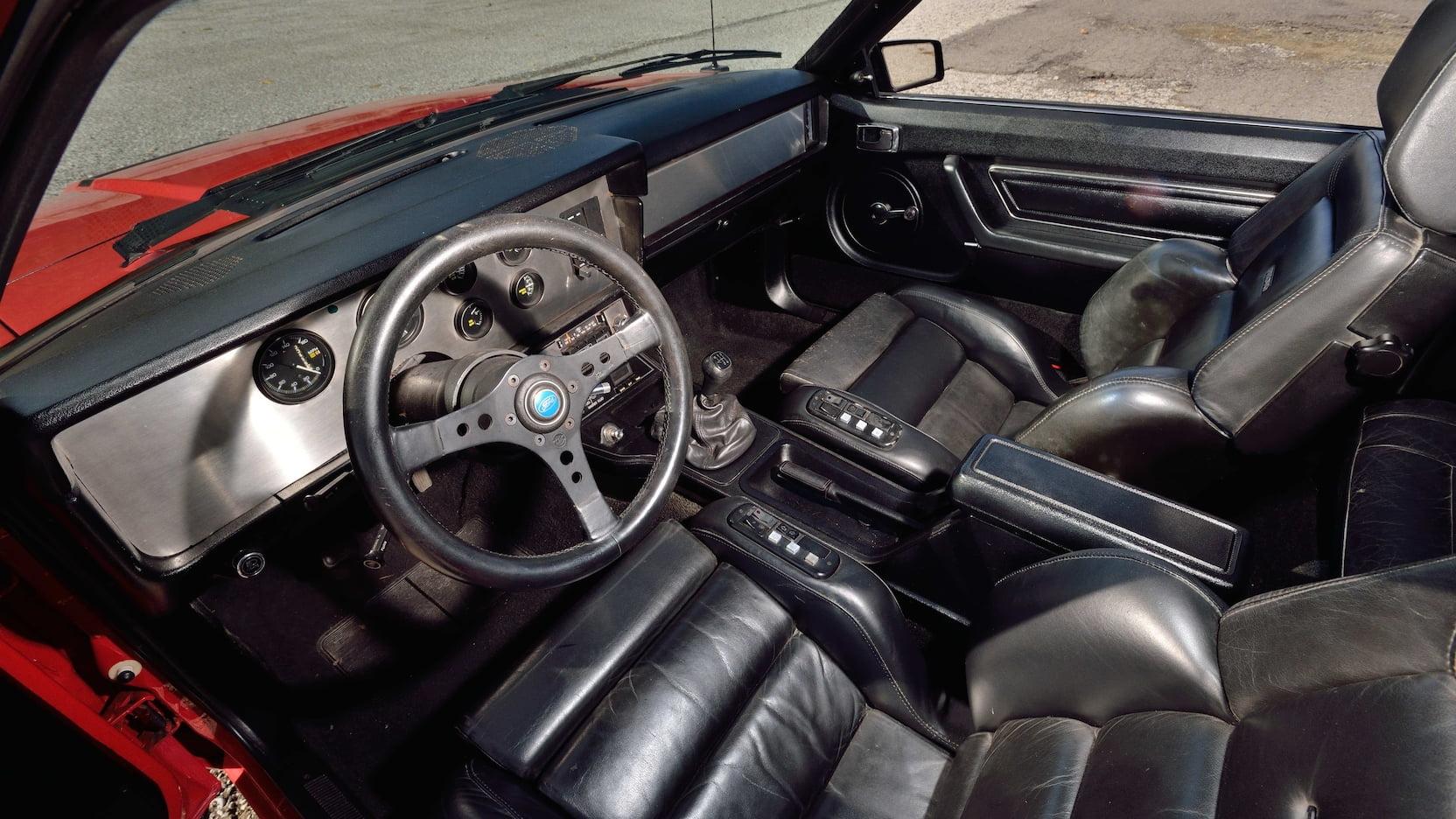 1980 Mercury Cosworth Capri interior