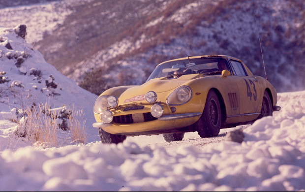 Chassis 06003 debuts at the Monte Carlo Rally, January 1966.