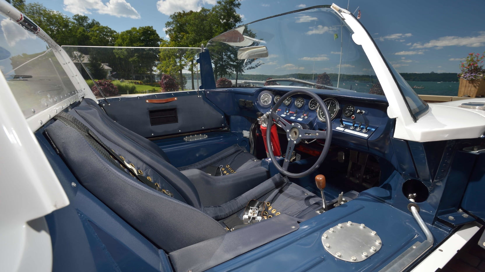1965 Ford GT Competition Prototype Roadster interior
