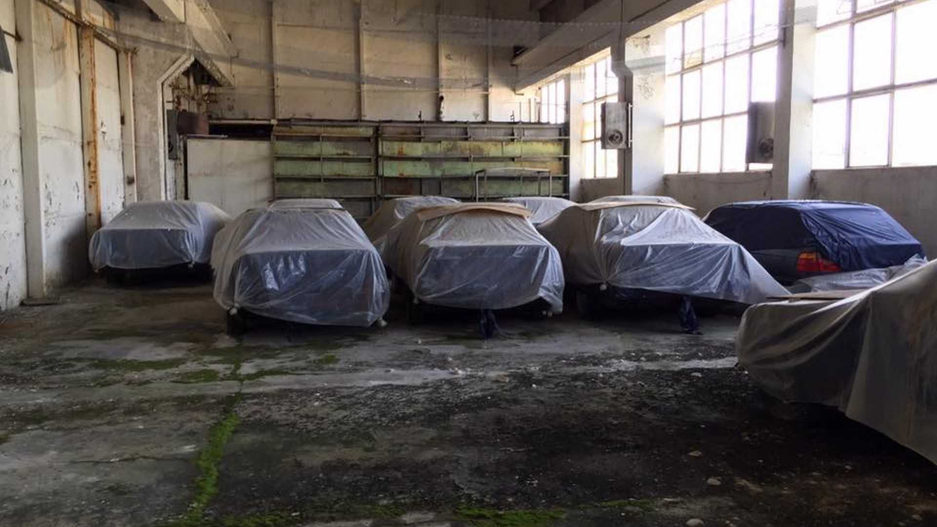 BMWs under car covers