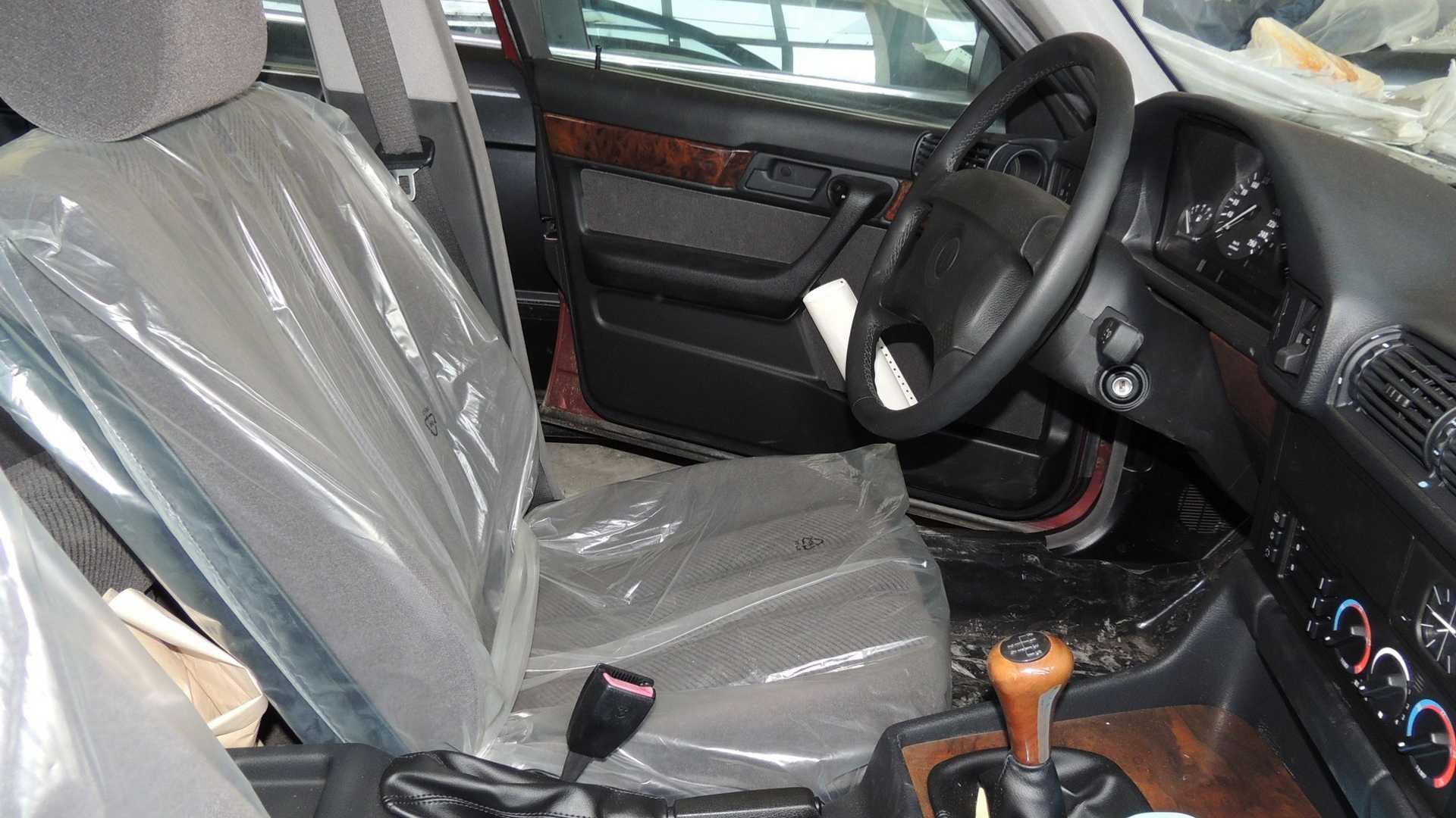 BMW 5 series interior still in plastic