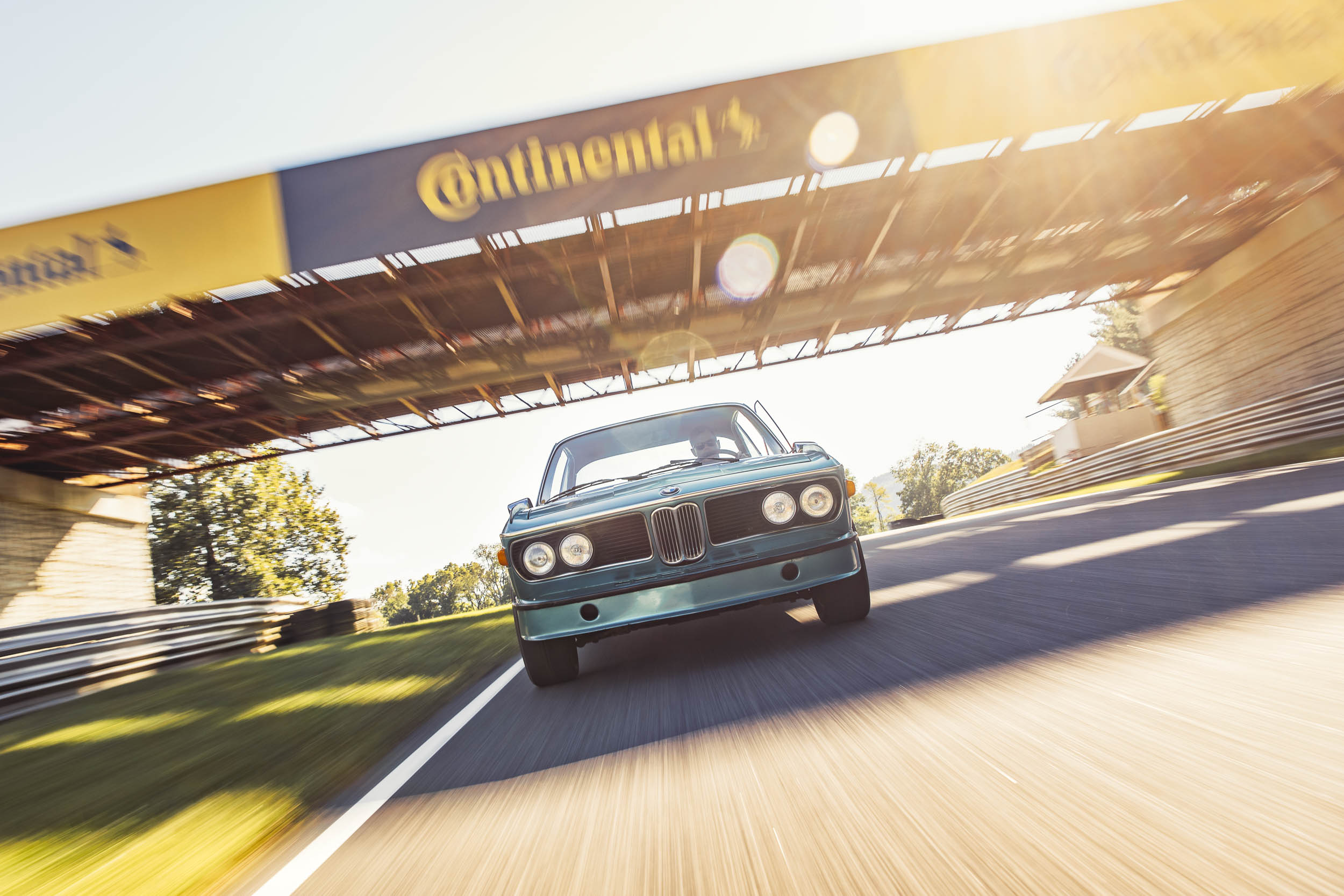 1973 BMW 3.0CSL on the track