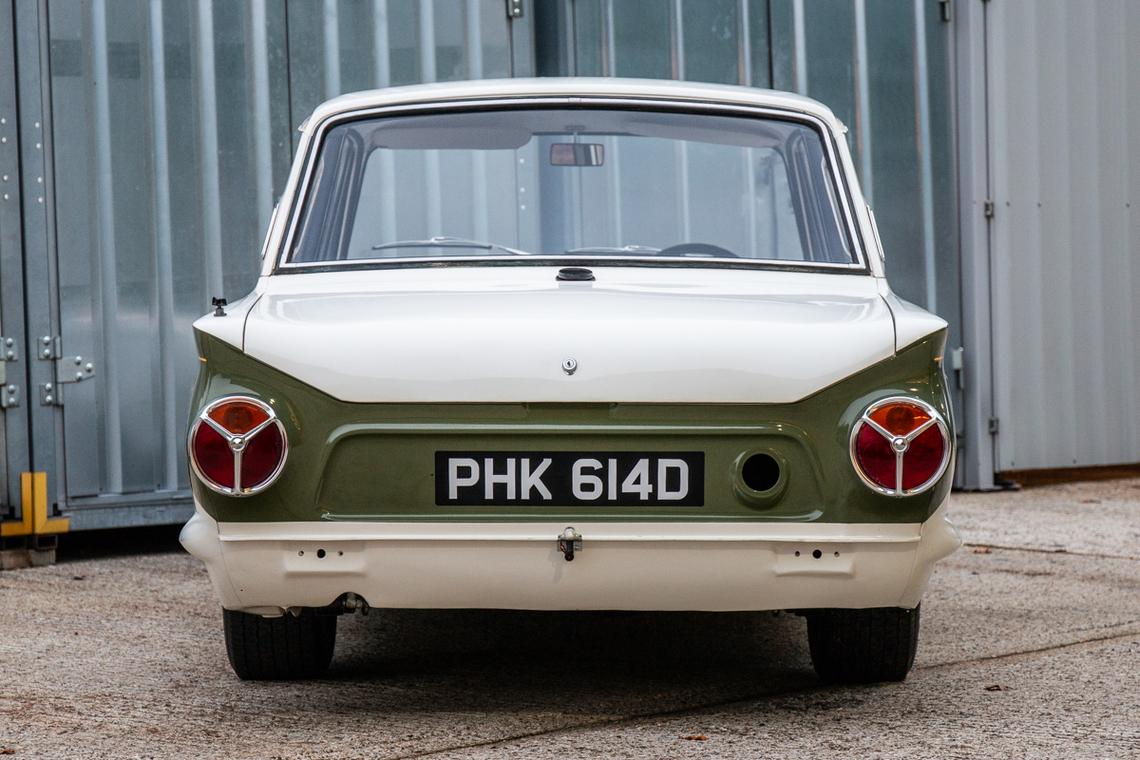 1966 Ford Cortina Lotus. Ex-works rear detail